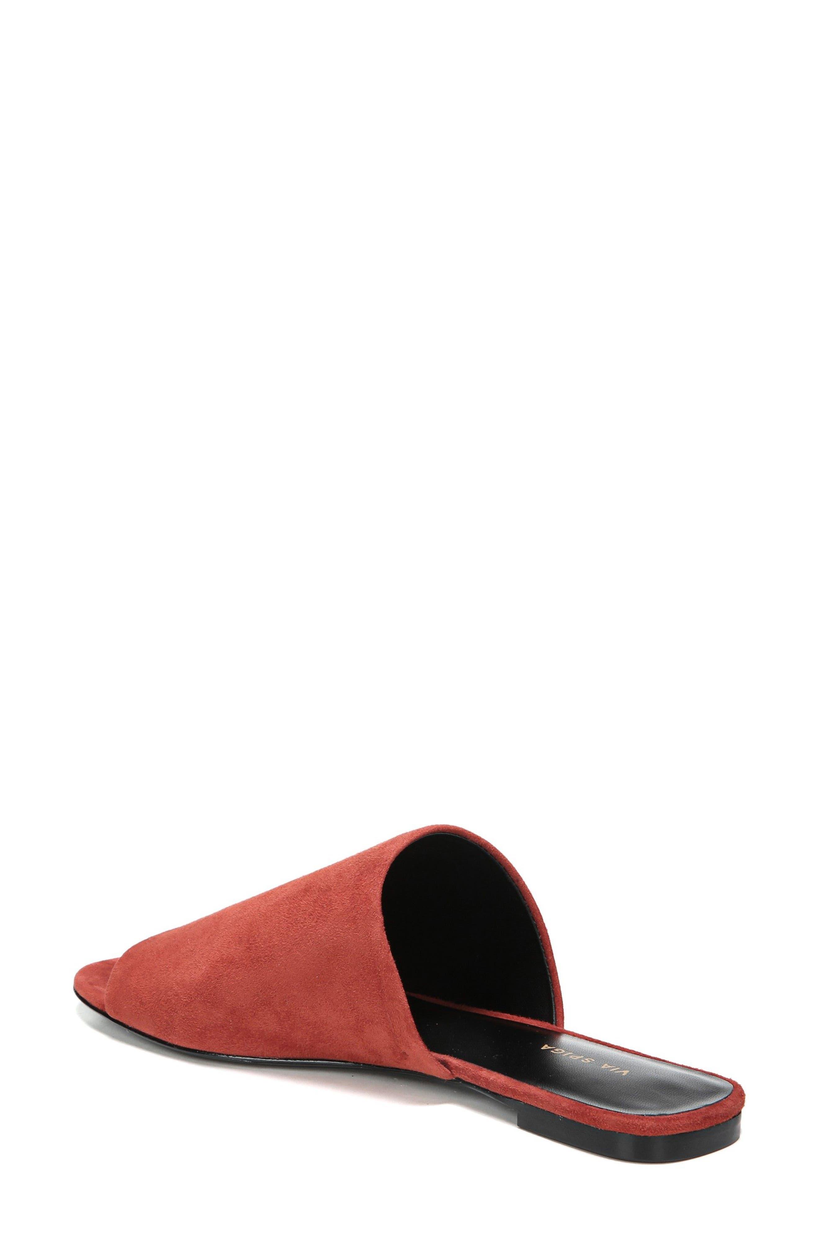 Heather Slide Sandal,                             Alternate thumbnail 2, color,                             Brick Leather