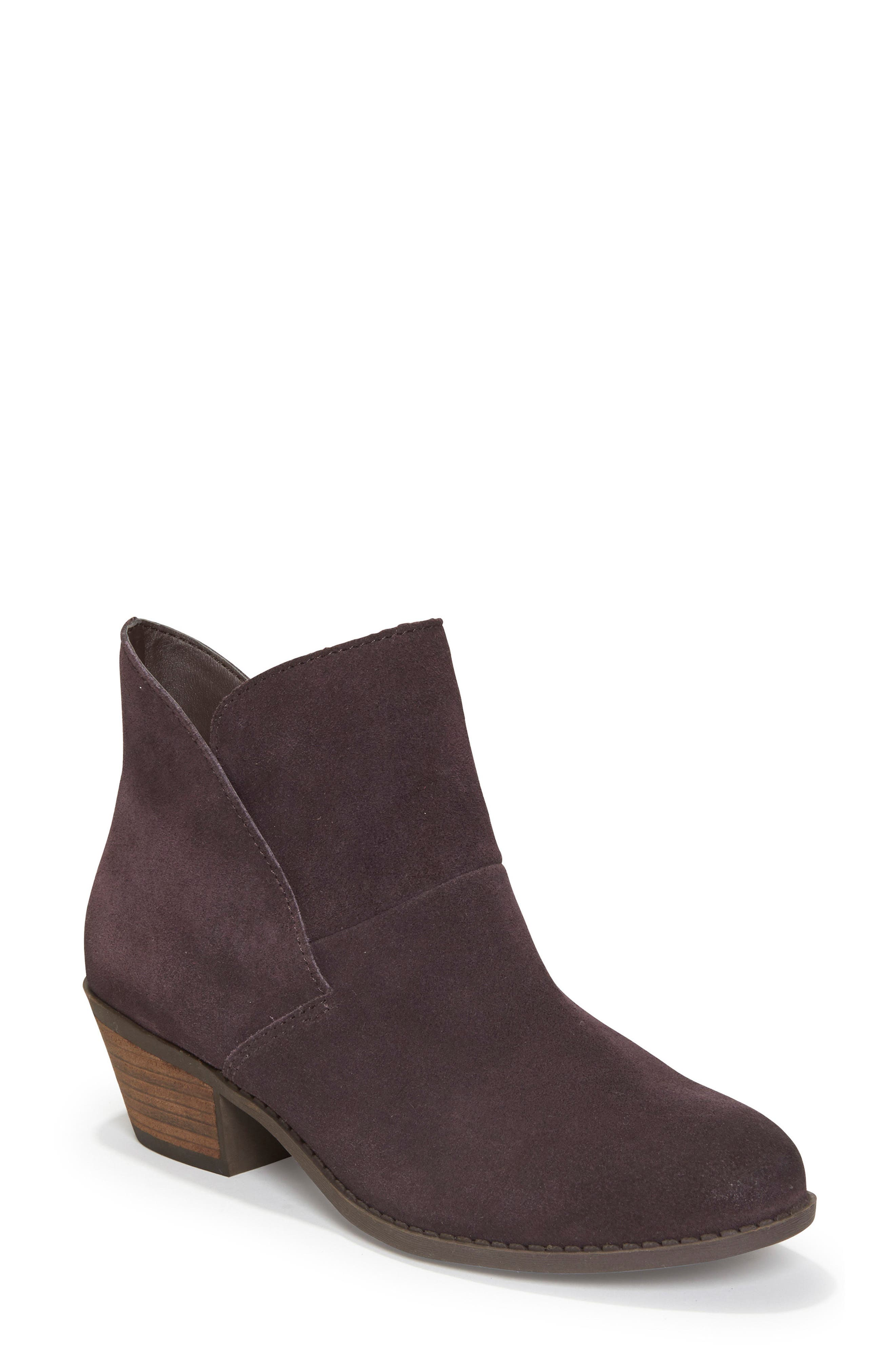 Zena Ankle Boot,                             Main thumbnail 1, color,                             Dark Ruby Suede