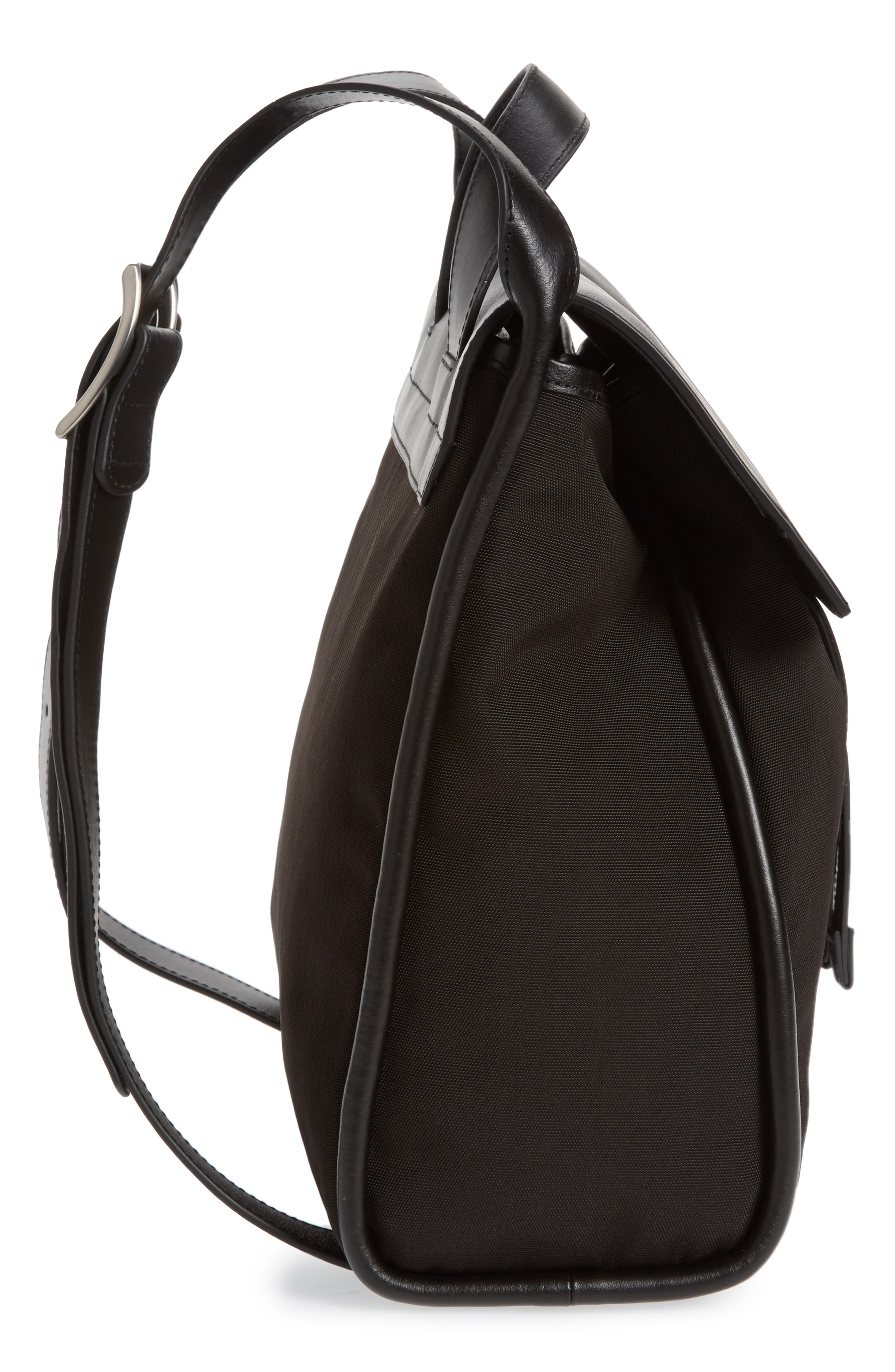 Ebba Leather Backpack,                             Alternate thumbnail 4, color,                             Black