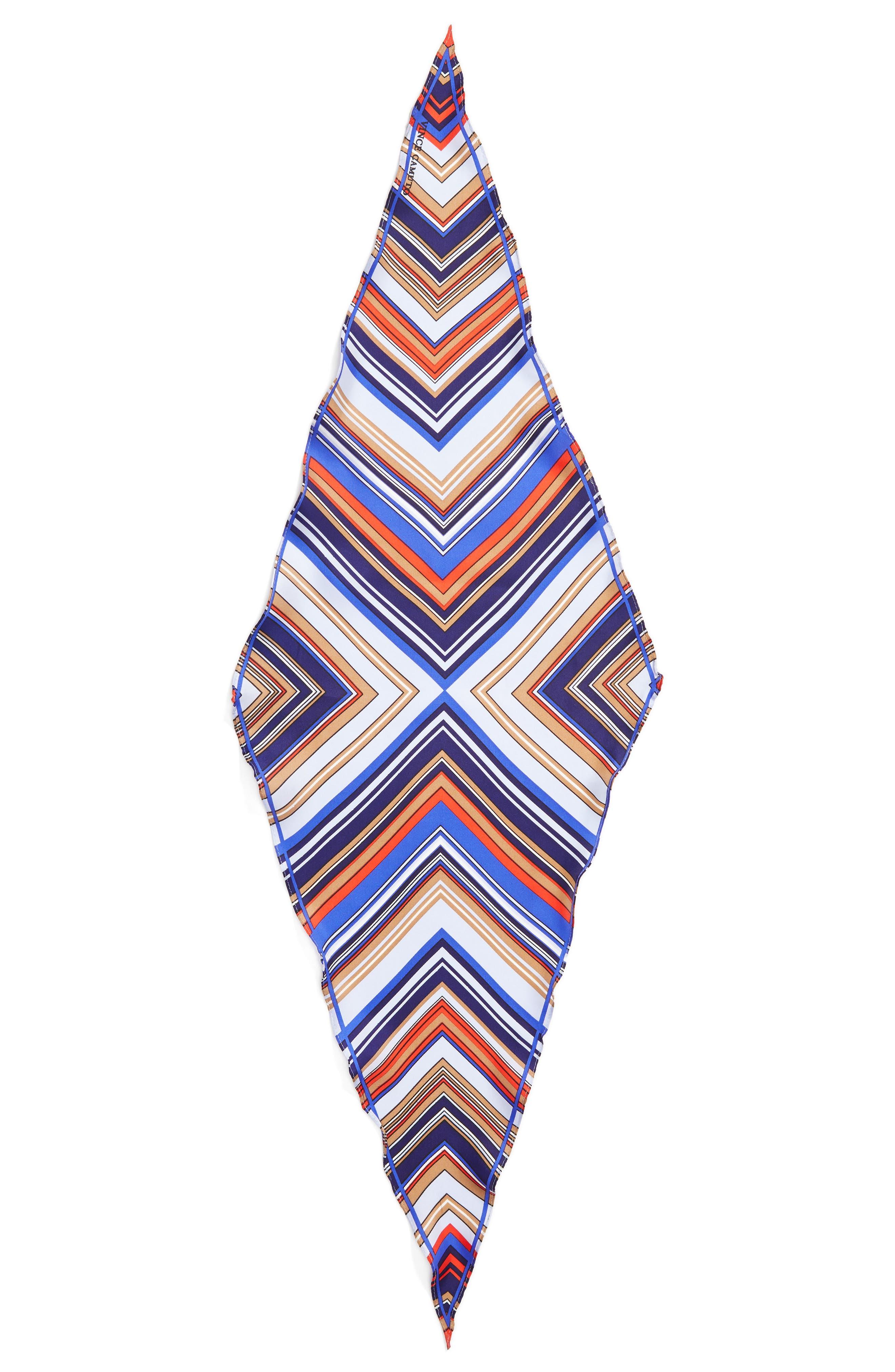 Stripe Diamond Silk Scarf,                             Alternate thumbnail 2, color,                             Blue