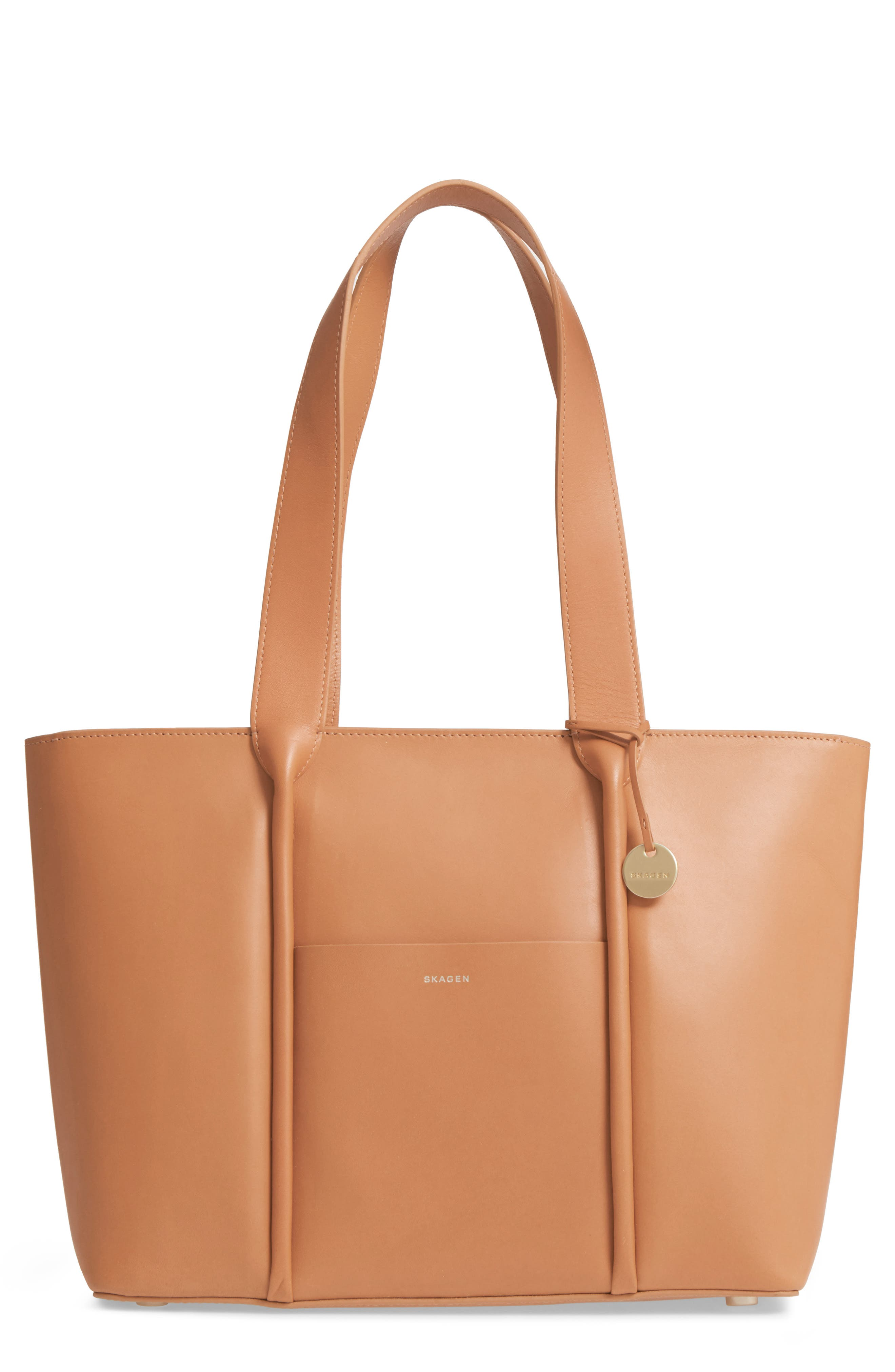 Lisabet Leather Tote,                             Main thumbnail 1, color,                             Tan