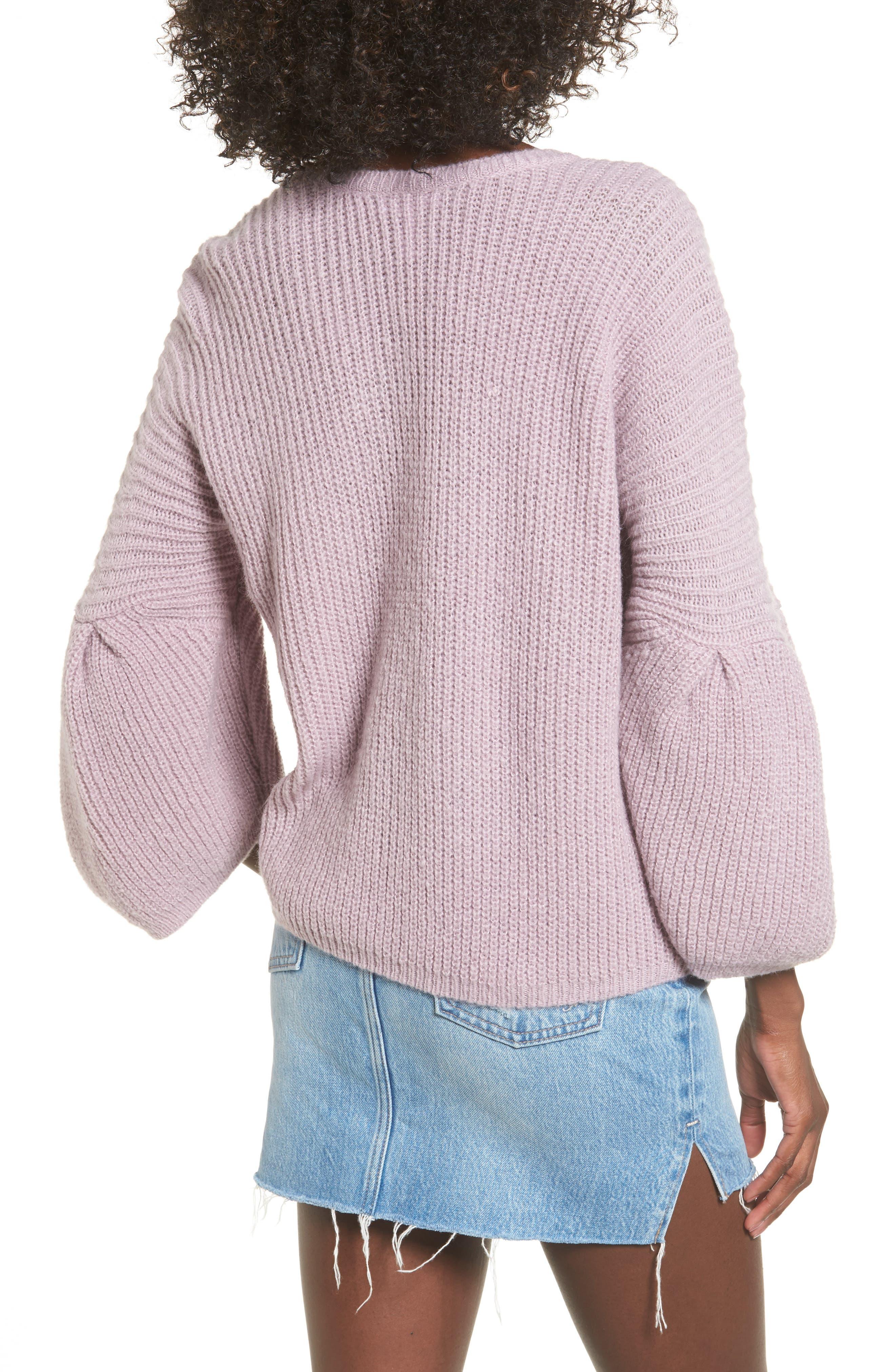 Alternate Image 2  - Leith Bubble Sleeve Sweater