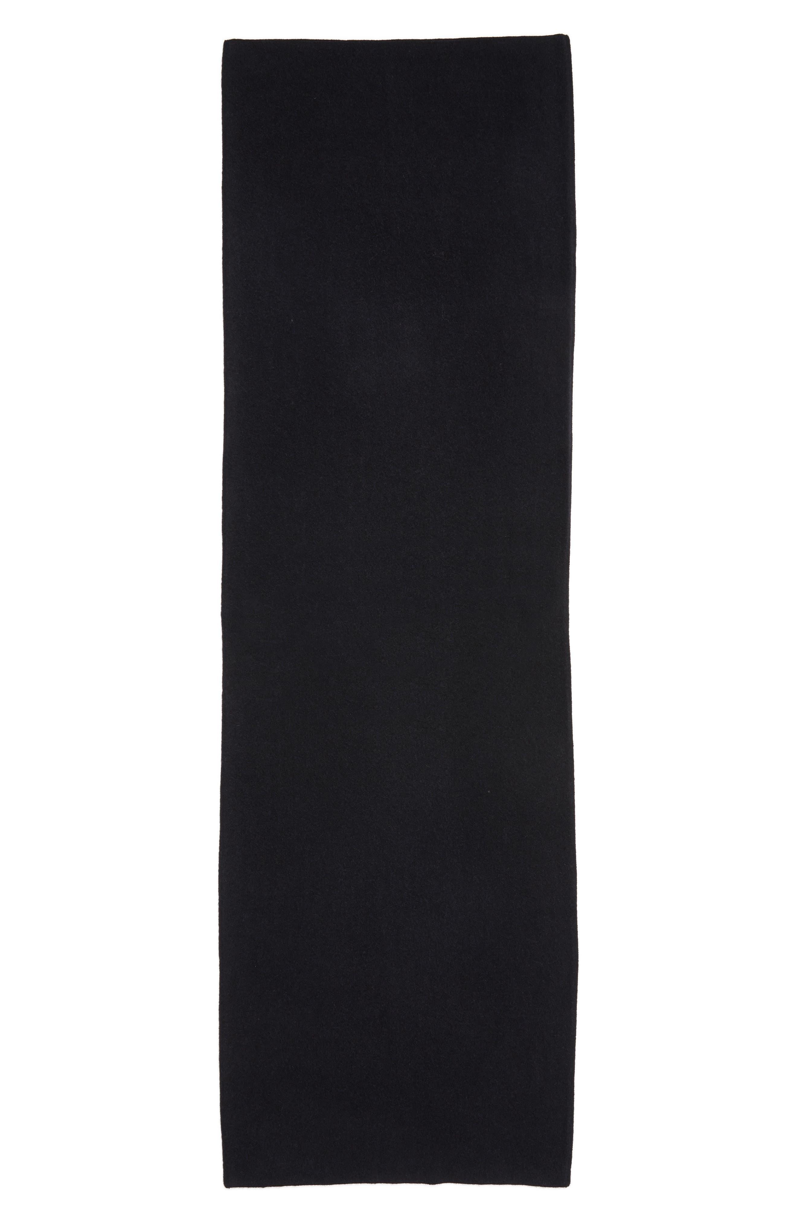 Cashmere Scarf,                             Alternate thumbnail 4, color,                             Black