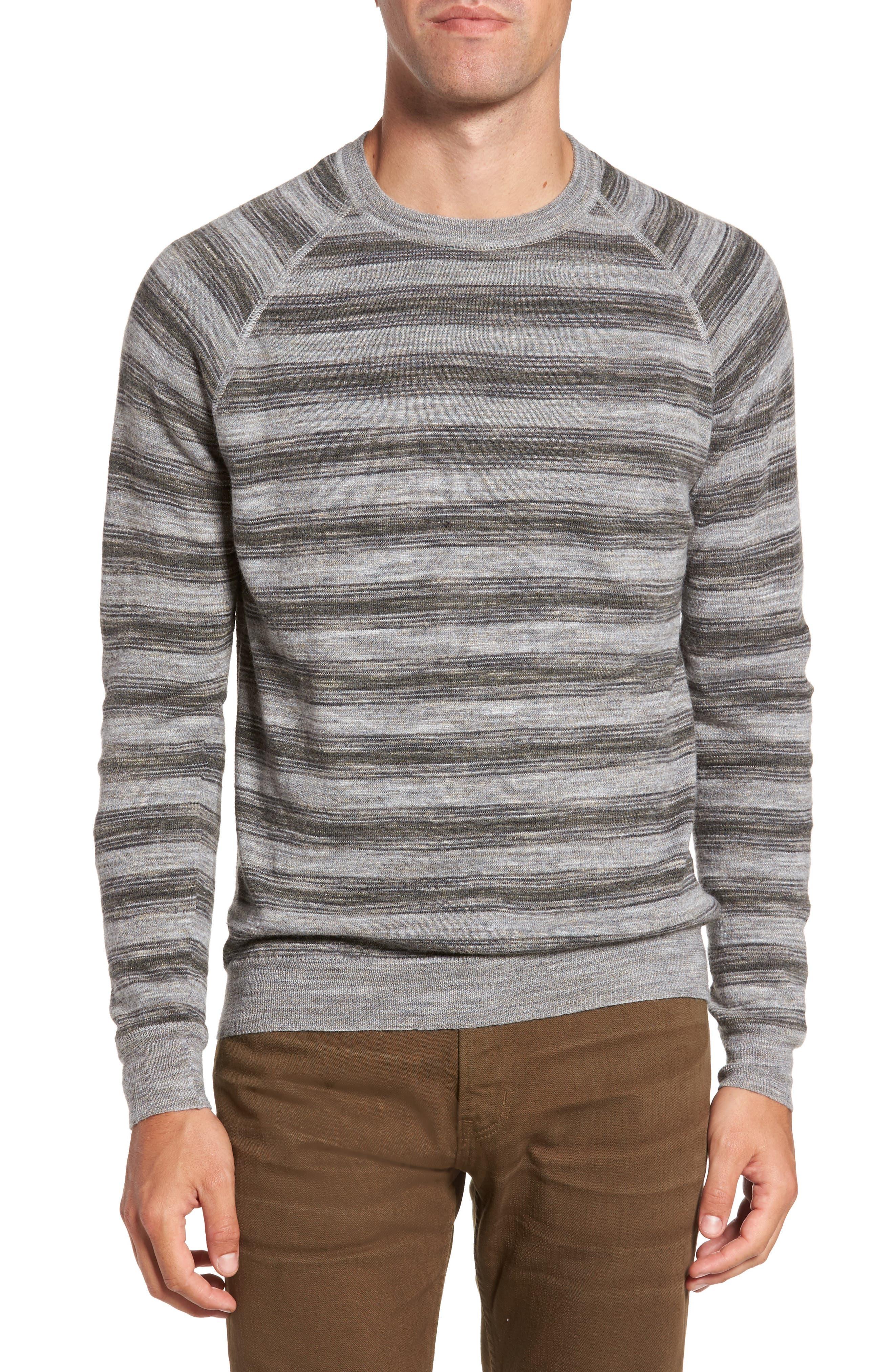 Reverse Stripe Sweater,                         Main,                         color, Grey Mix