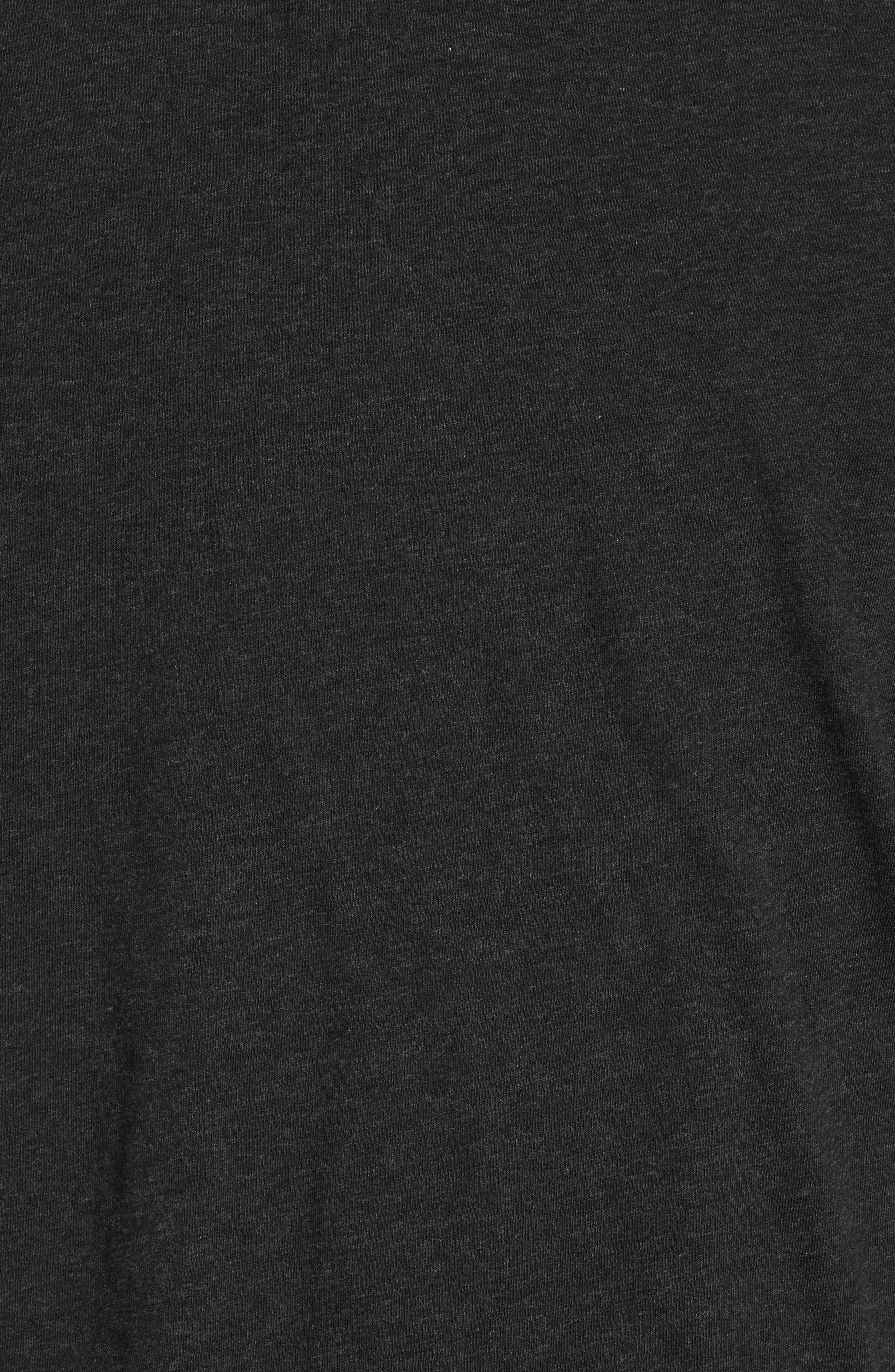 Utley Reversible Henley,                             Alternate thumbnail 5, color,                             Black Heather