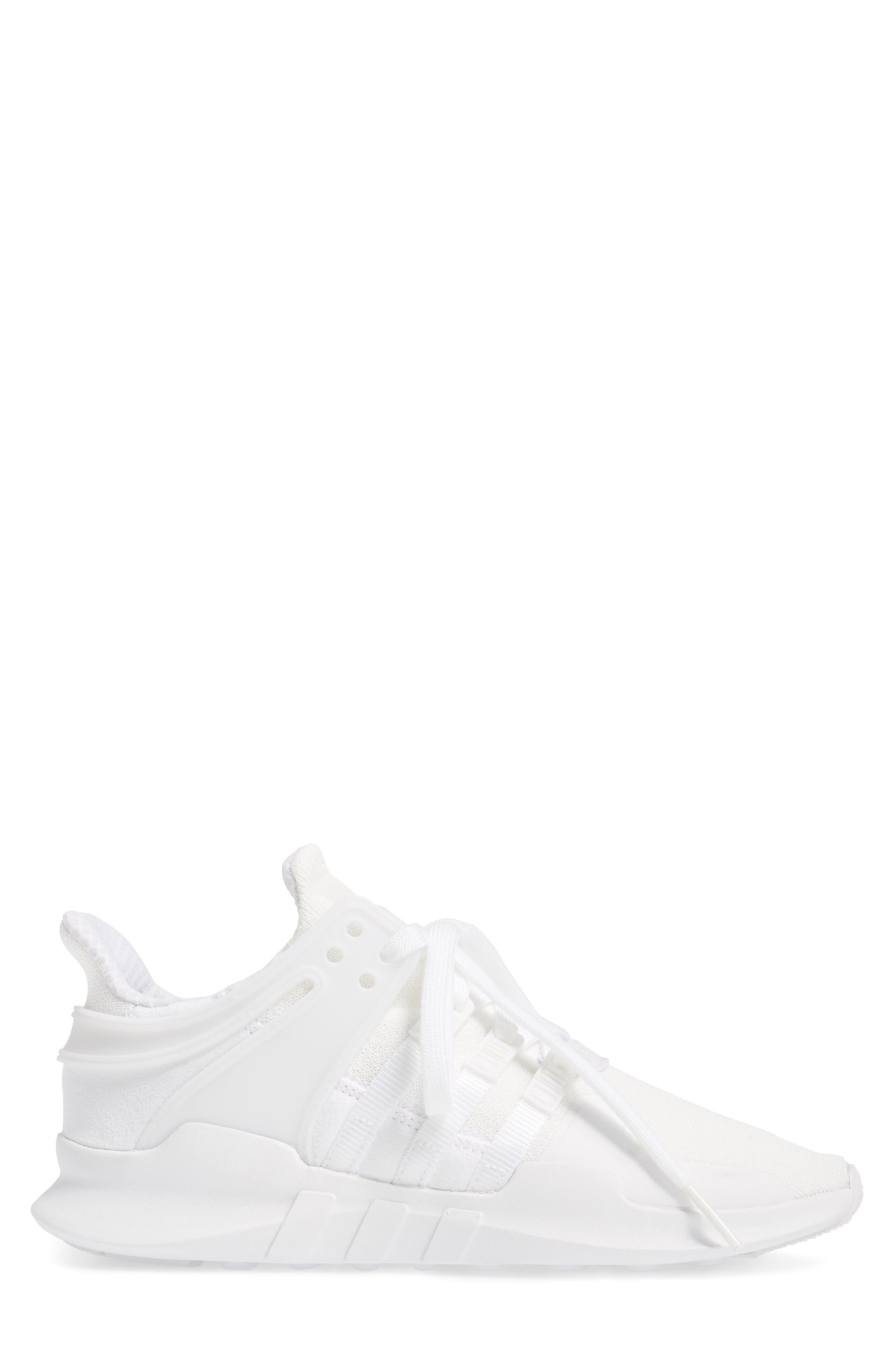 EQT Support Adv Sneaker,                             Alternate thumbnail 3, color,                             White/Core Black