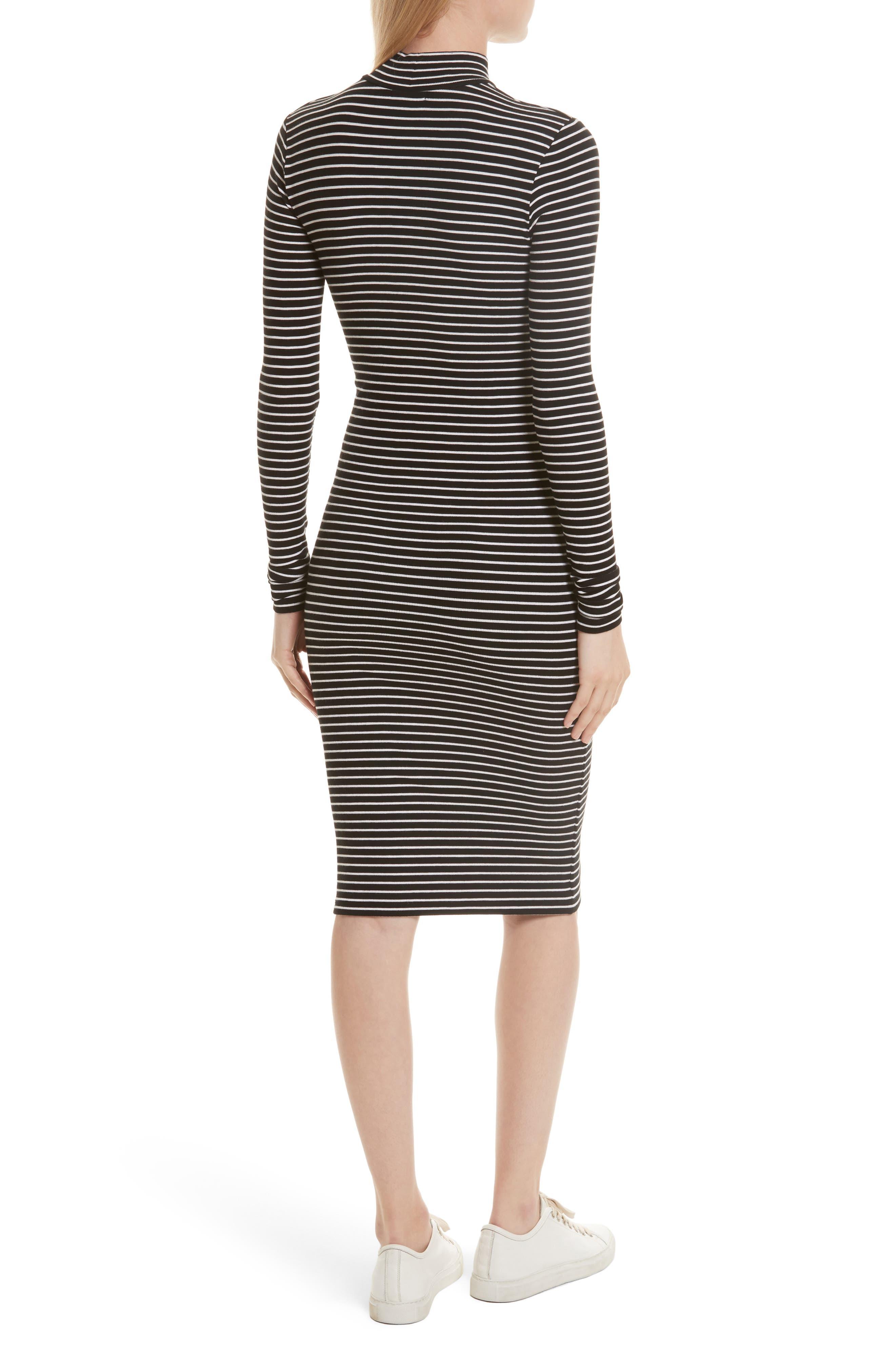 Alternate Image 3  - ATM Anthony Thomas Melillo Stripe Rib Jersey Dress (Nordstrom Exclusive)