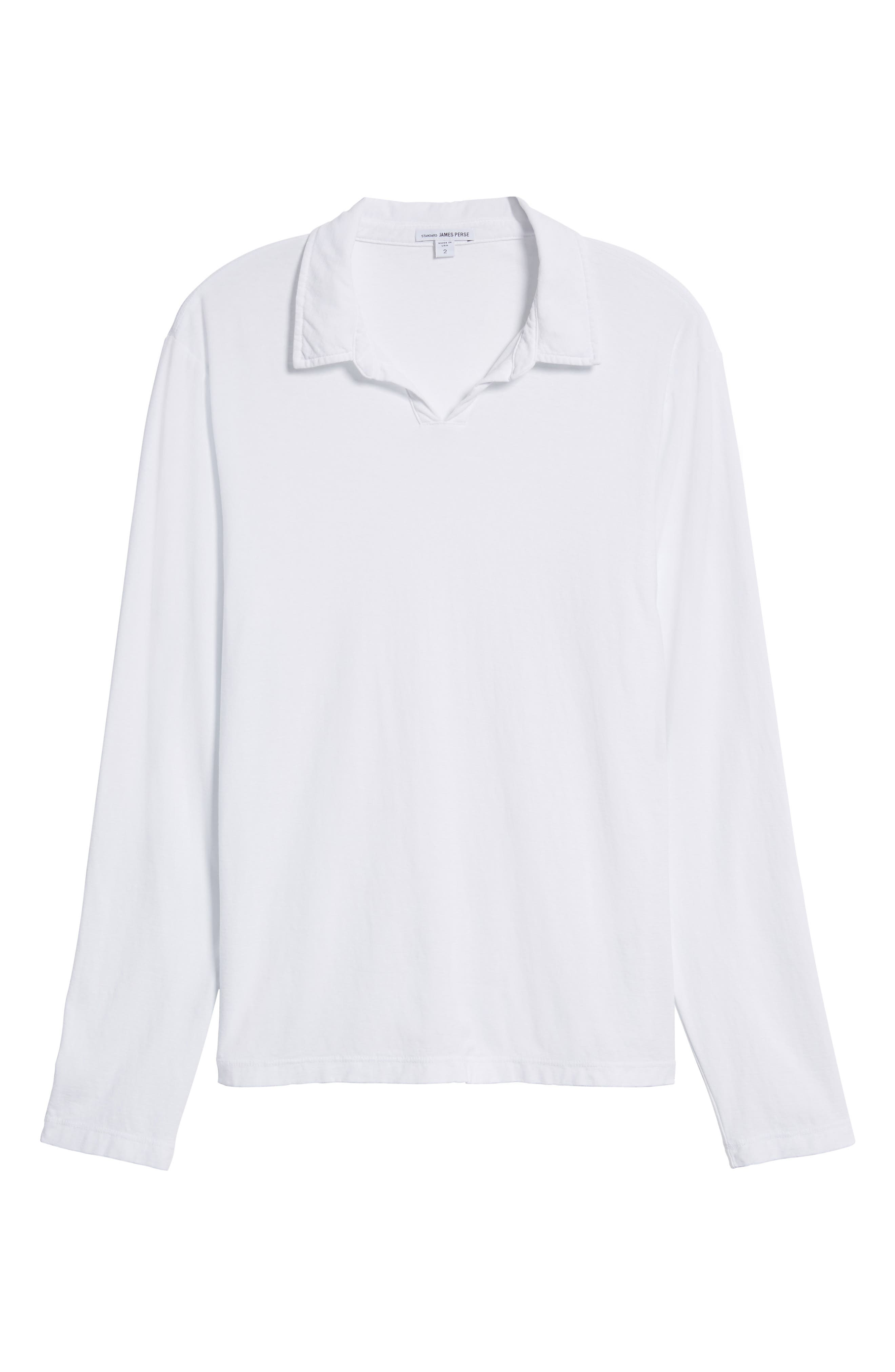 Alternate Image 5  - James Perse Long Sleeve Cotton Polo