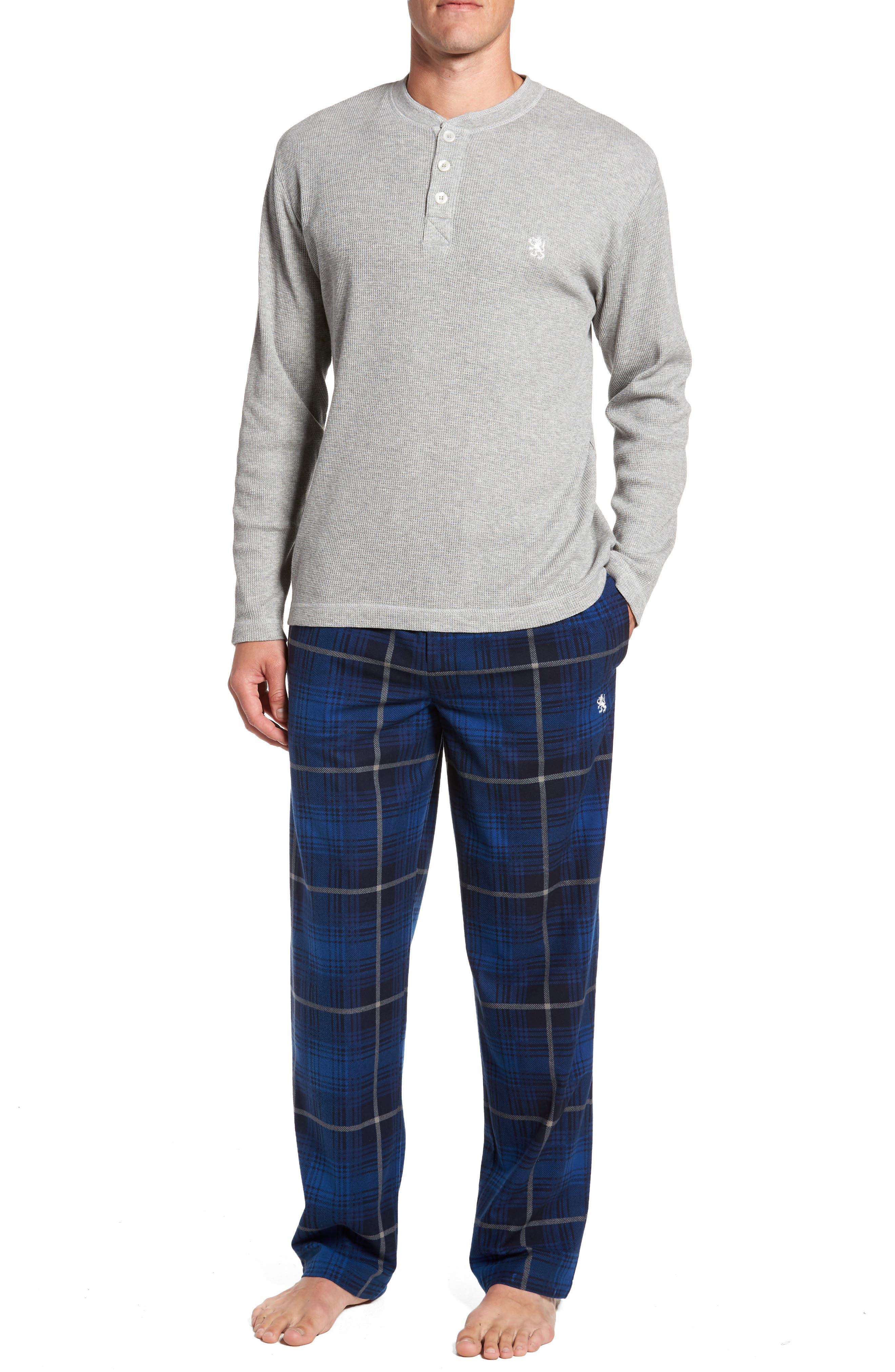 Alternate Image 1 Selected - Majestic International Nifty Gift Henley Shirt & Lounge Pants