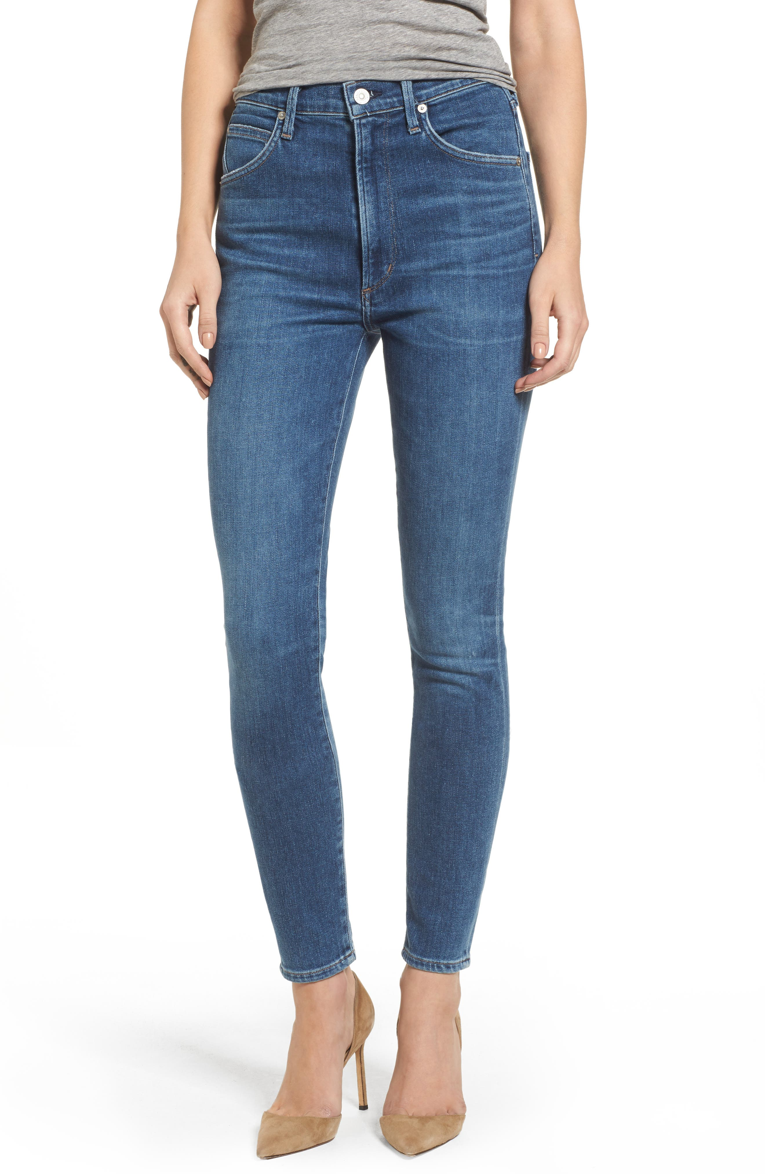 Chrissy High Waist Skinny Jeans,                         Main,                         color, Hotline