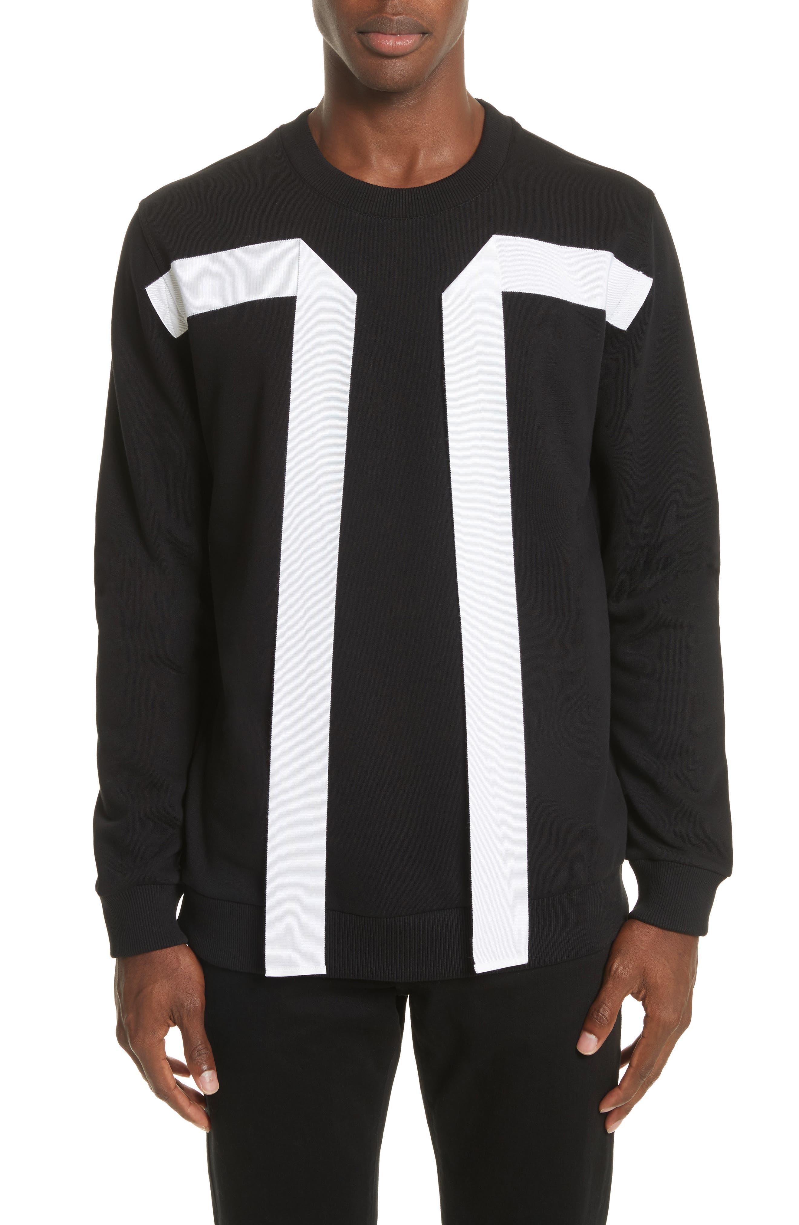 Flying Bands Crewneck Sweatshirt,                         Main,                         color, Black