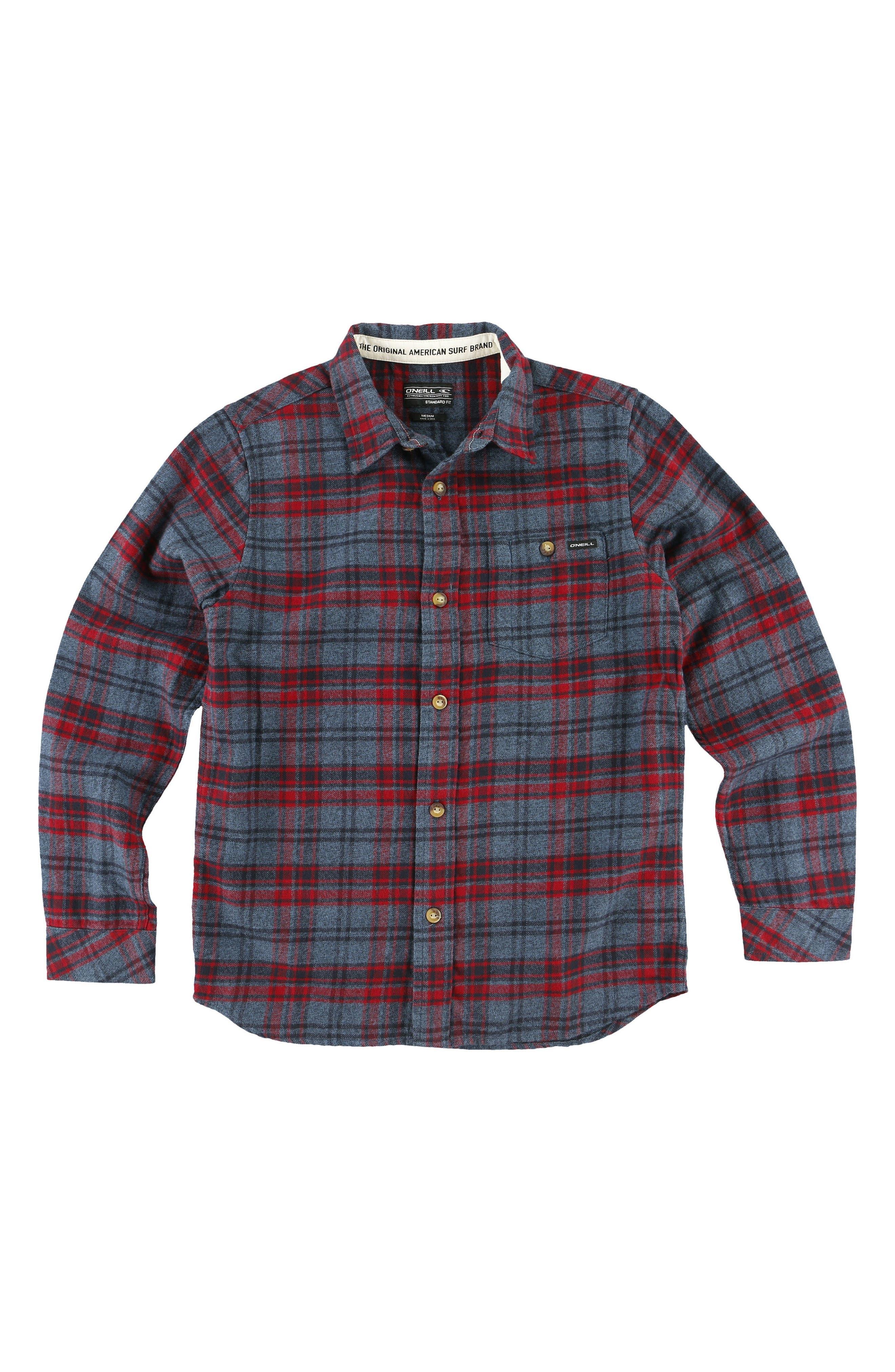O'Neill Redmond Flannel Shirt (Big Boys)