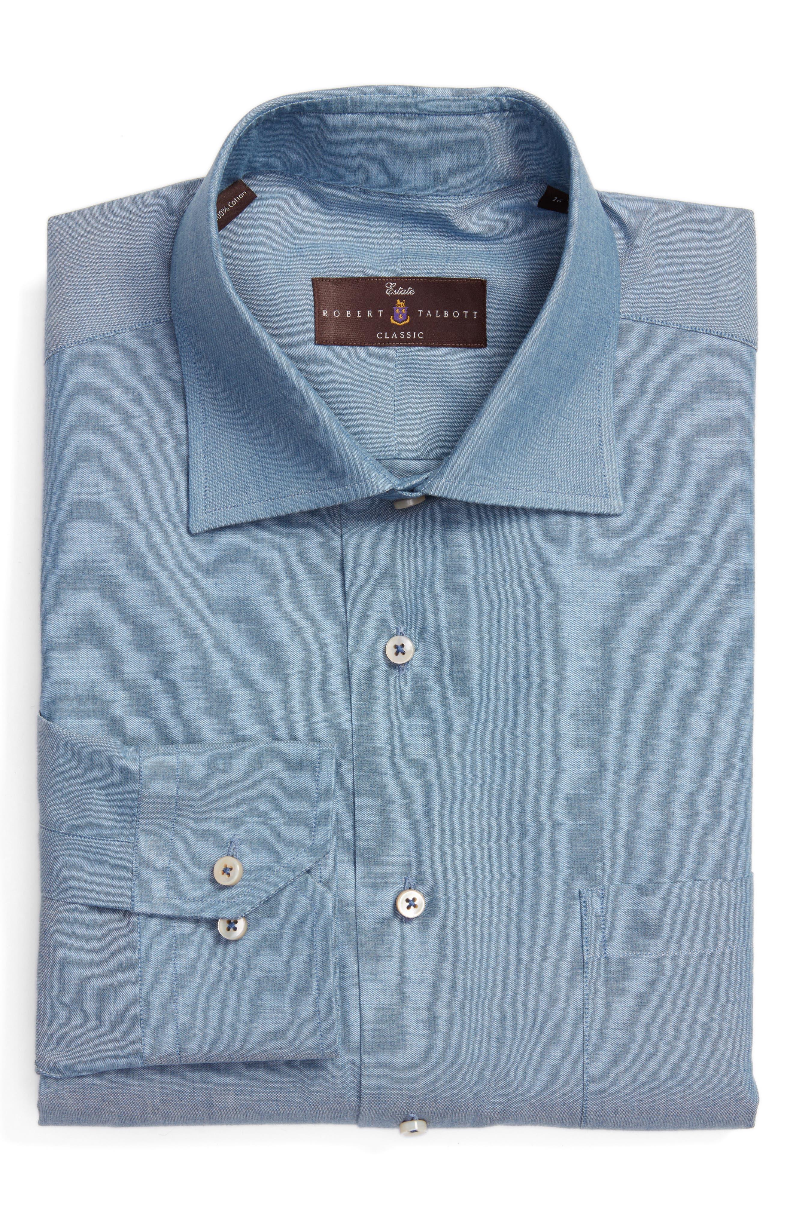 Classic Fit Oxford Dress Shirt,                         Main,                         color, Indigo