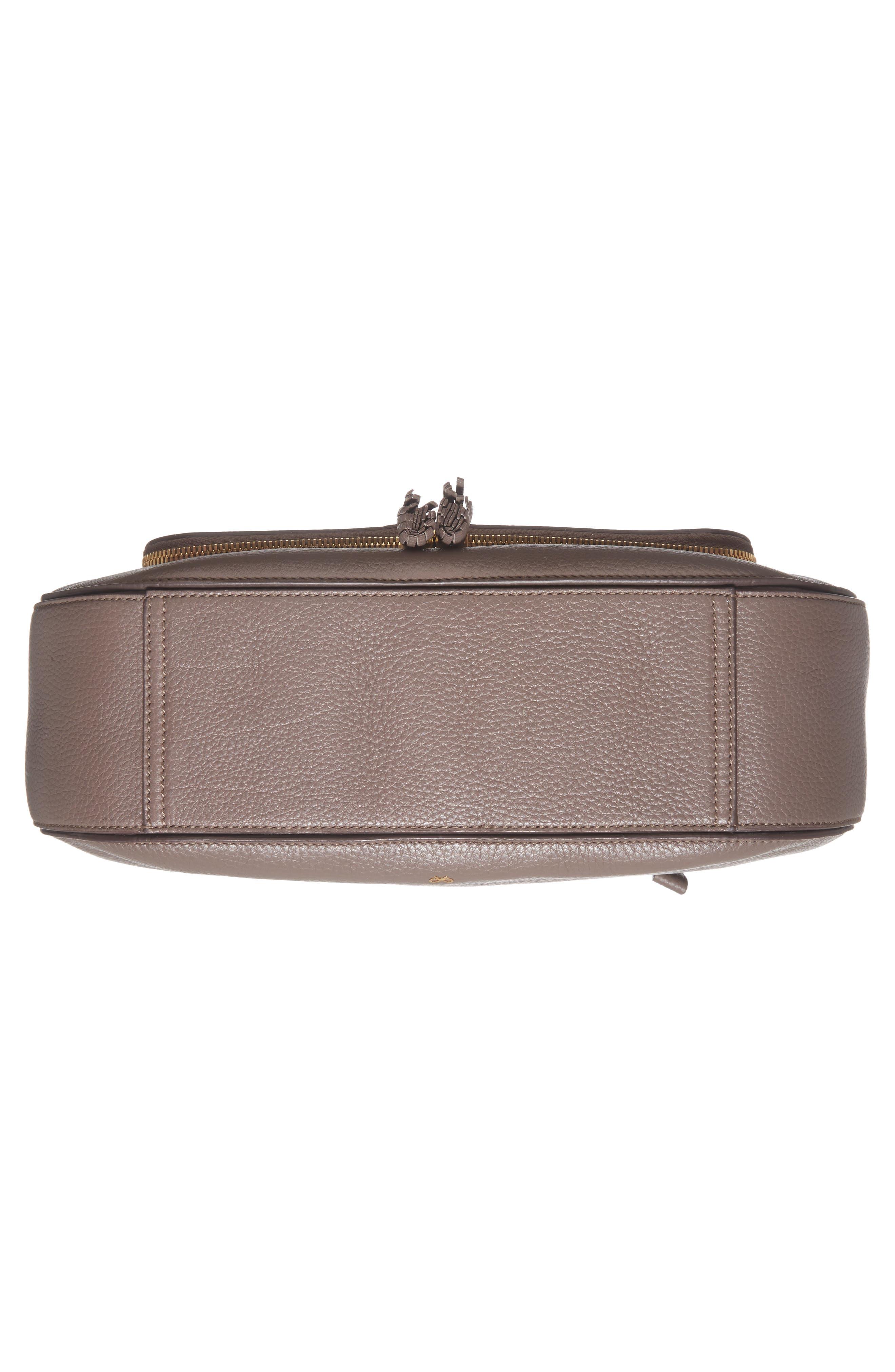 Maxi Vere Leather Satchel,                             Alternate thumbnail 6, color,                             Porcini