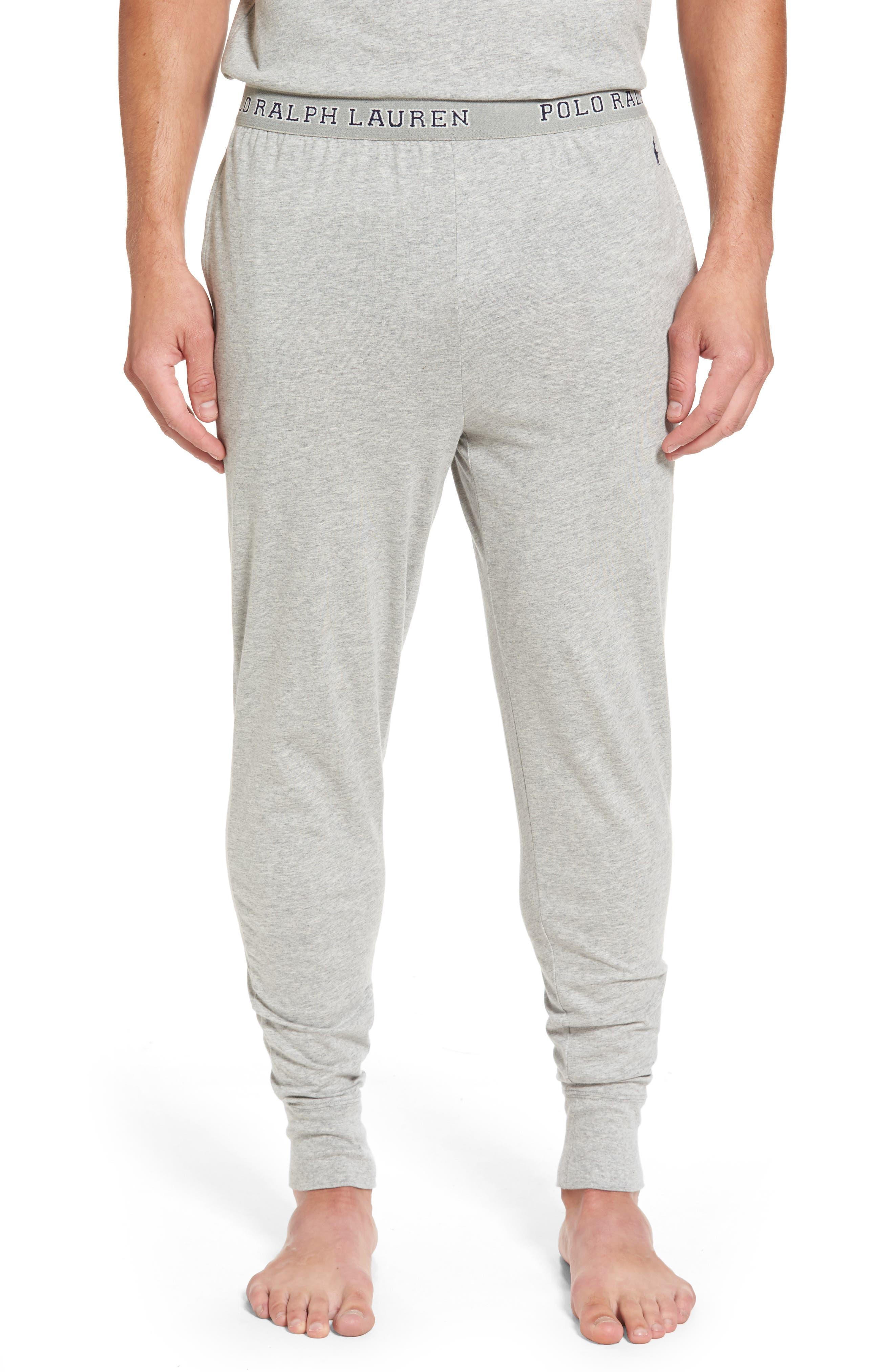 Cotton Jogger Lounge Pants,                         Main,                         color, Andover Heather