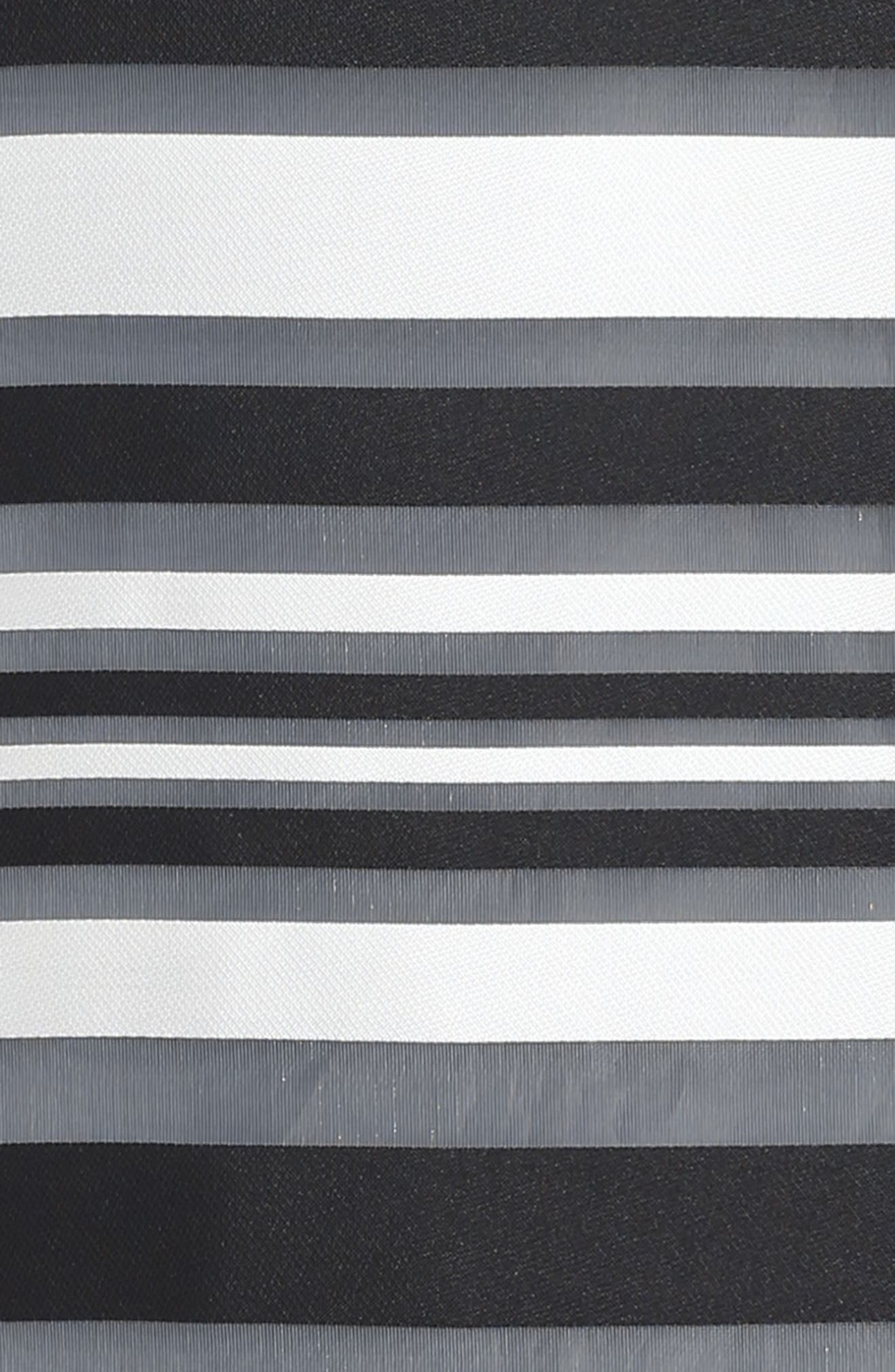 Chloe Illusion Stripe Shift Dress,                             Alternate thumbnail 3, color,                             White/ Black