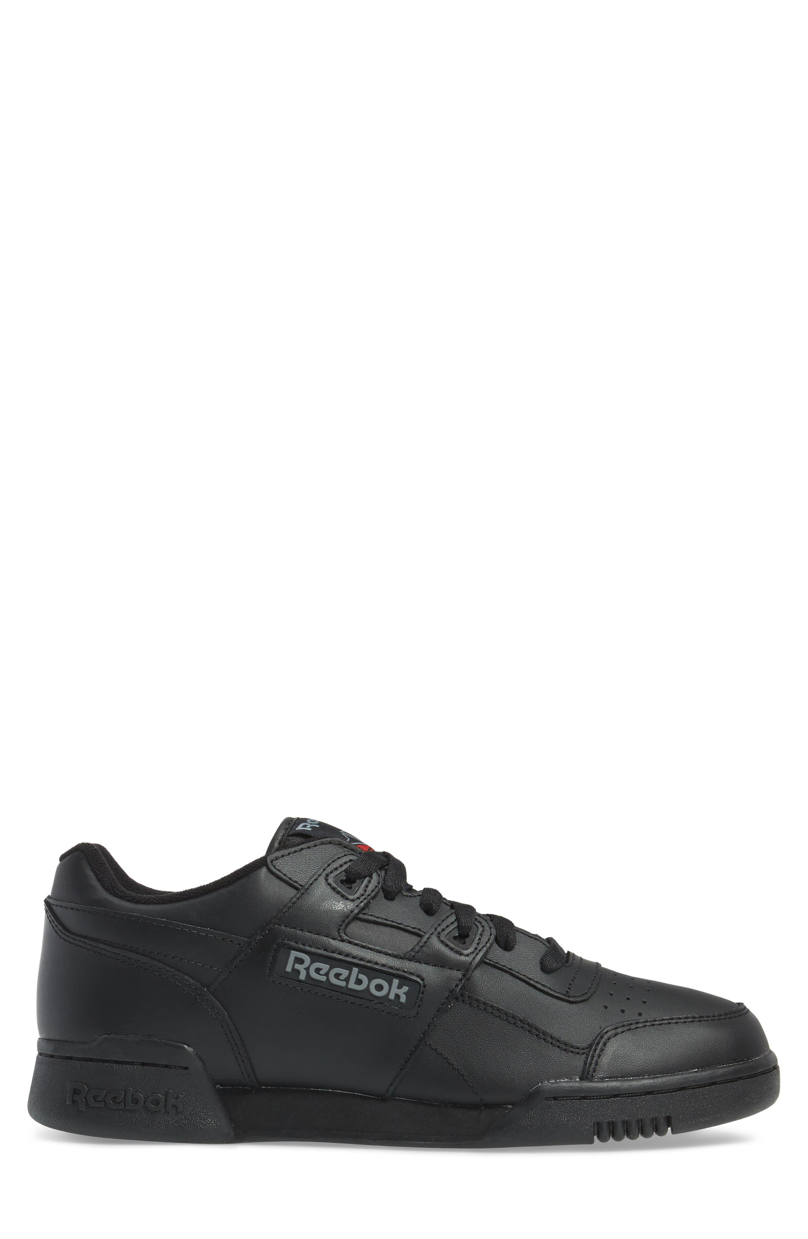 Workout Plus Sneaker,                             Alternate thumbnail 3, color,                             Black/ Charcoal