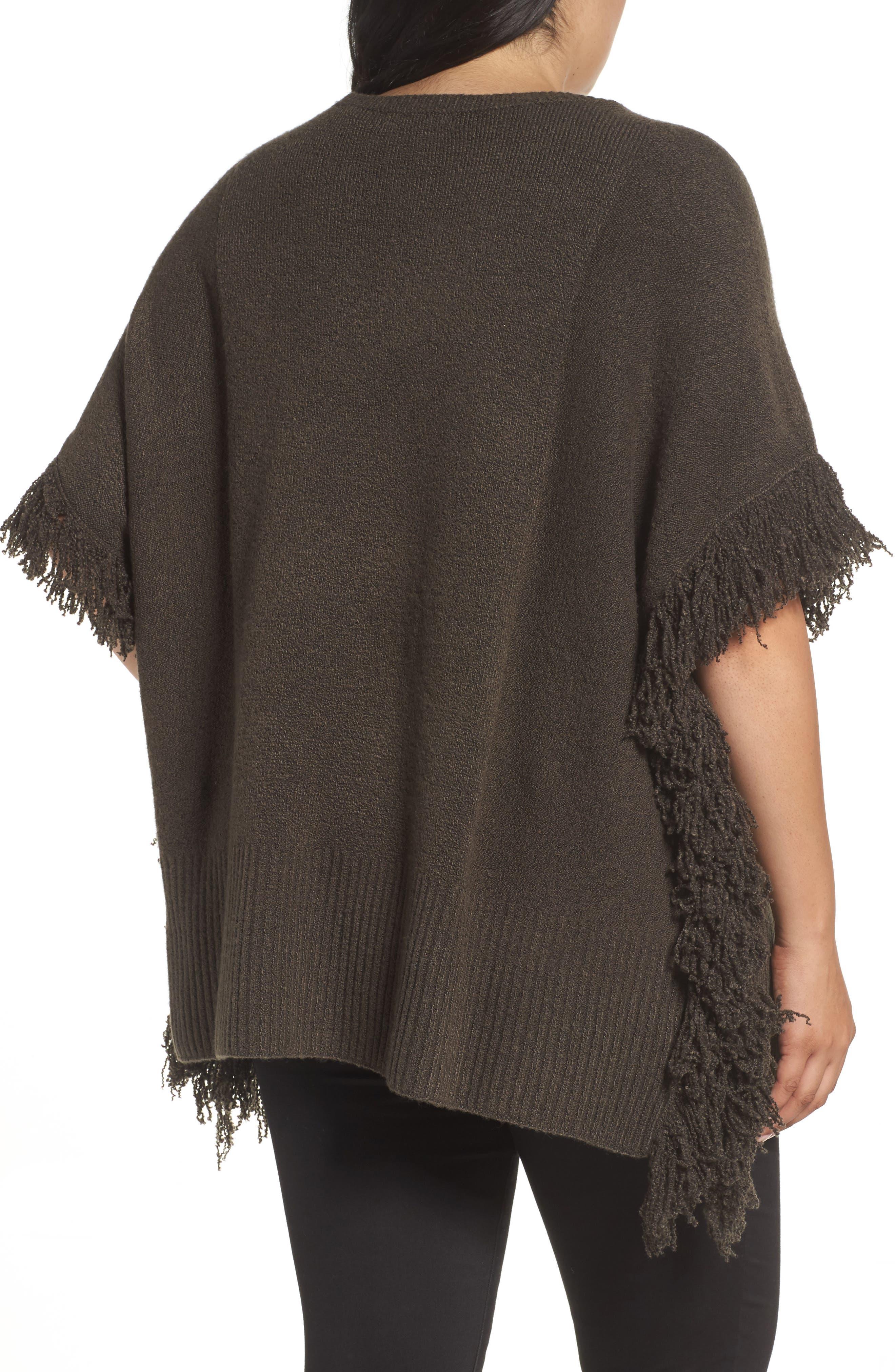 Alternate Image 3  - Sejour Fringe Poncho Sweater (Plus Size)