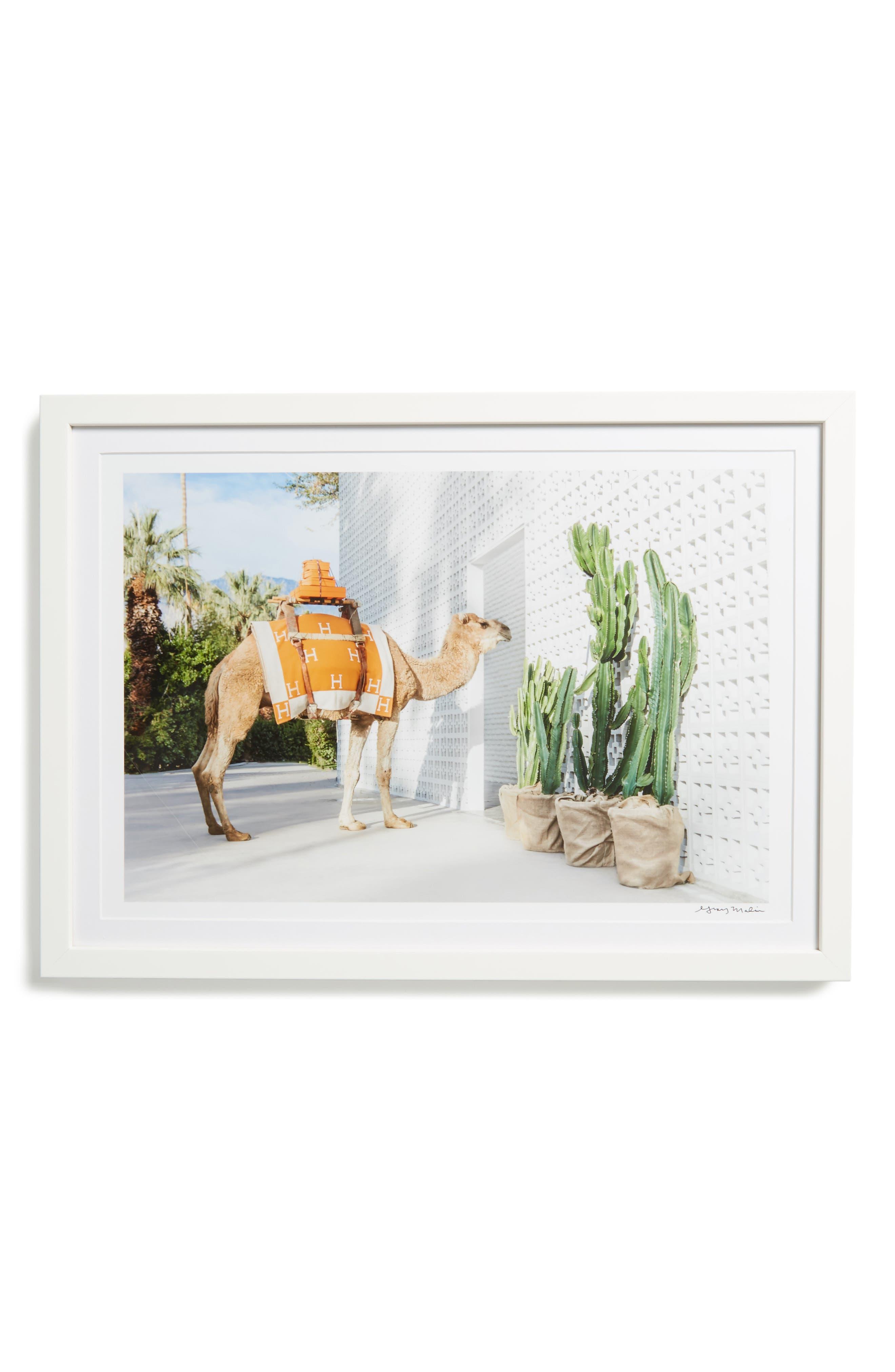 The Porter Framed Art Print,                         Main,                         color, Beige