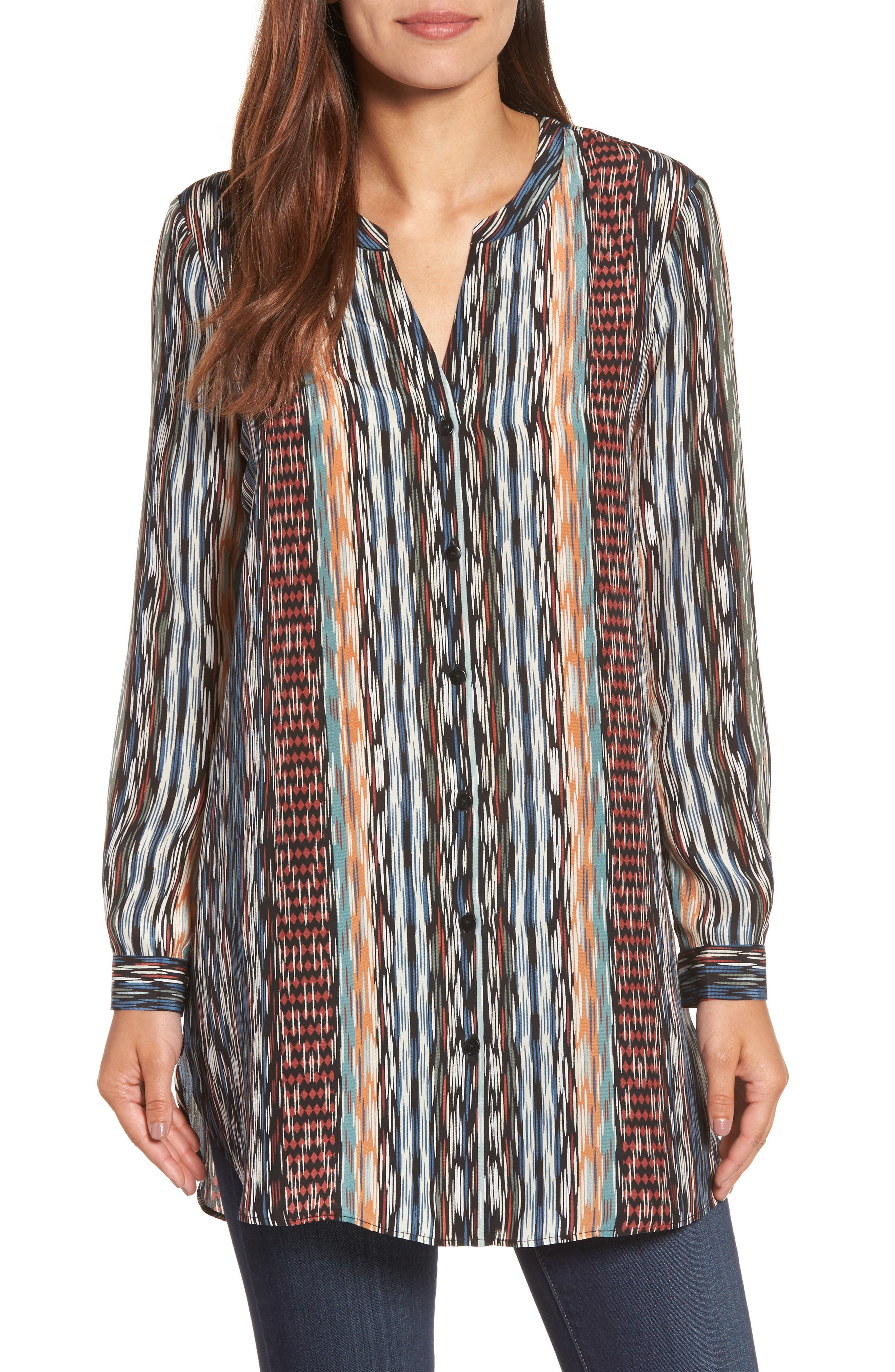 NIC+ZOE Color Streaks Silk Blend Tunic (Regular & Petite)