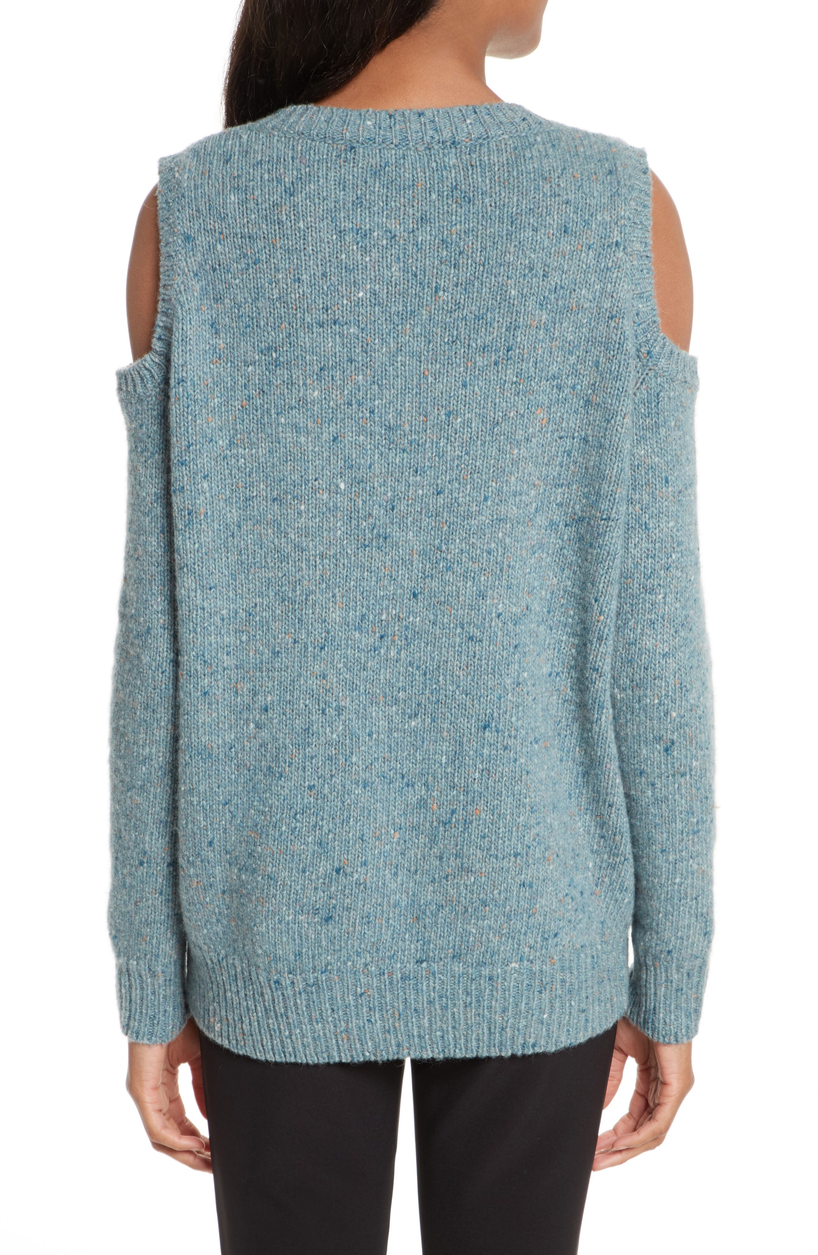 Page Cold Shoulder Sweater,                             Alternate thumbnail 2, color,                             Seamist