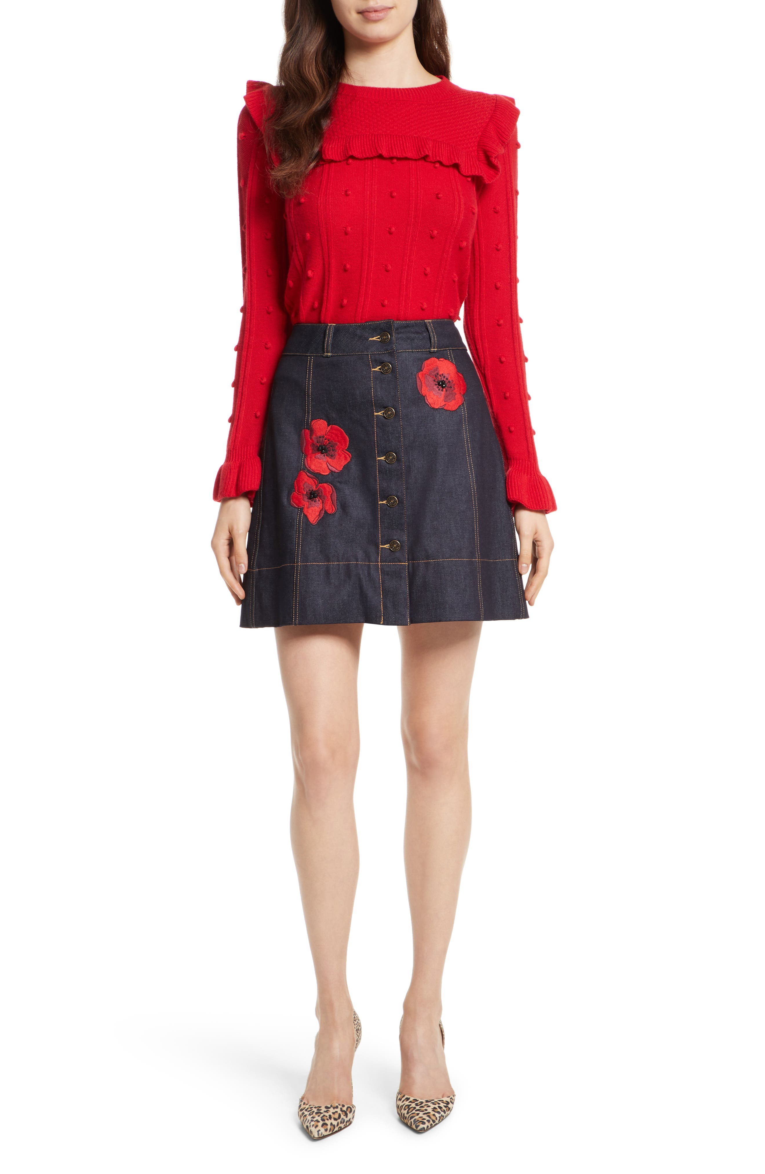 Alternate Image 2  - kate spade new york poppy denim skirt