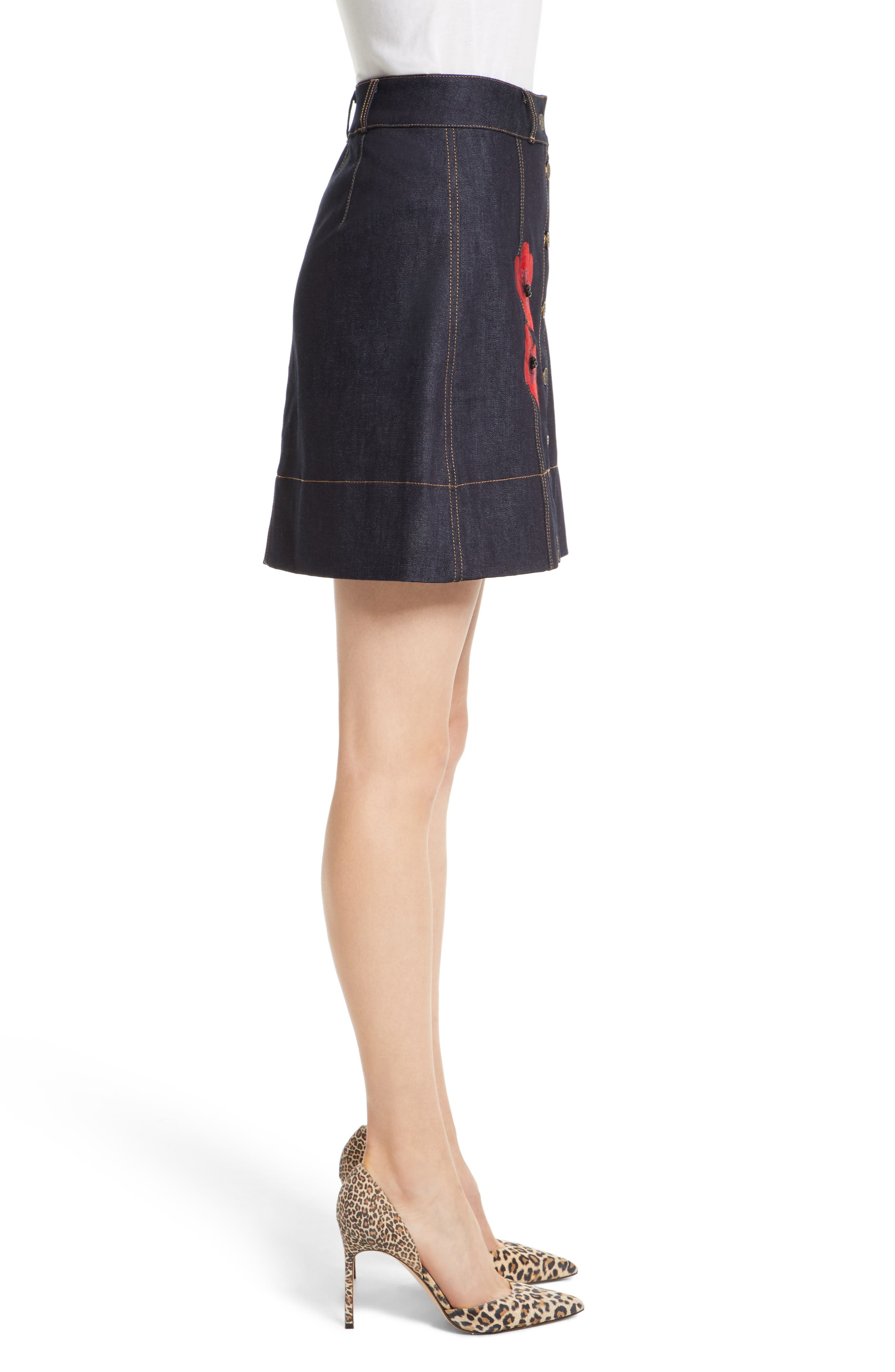Alternate Image 4  - kate spade new york poppy denim skirt
