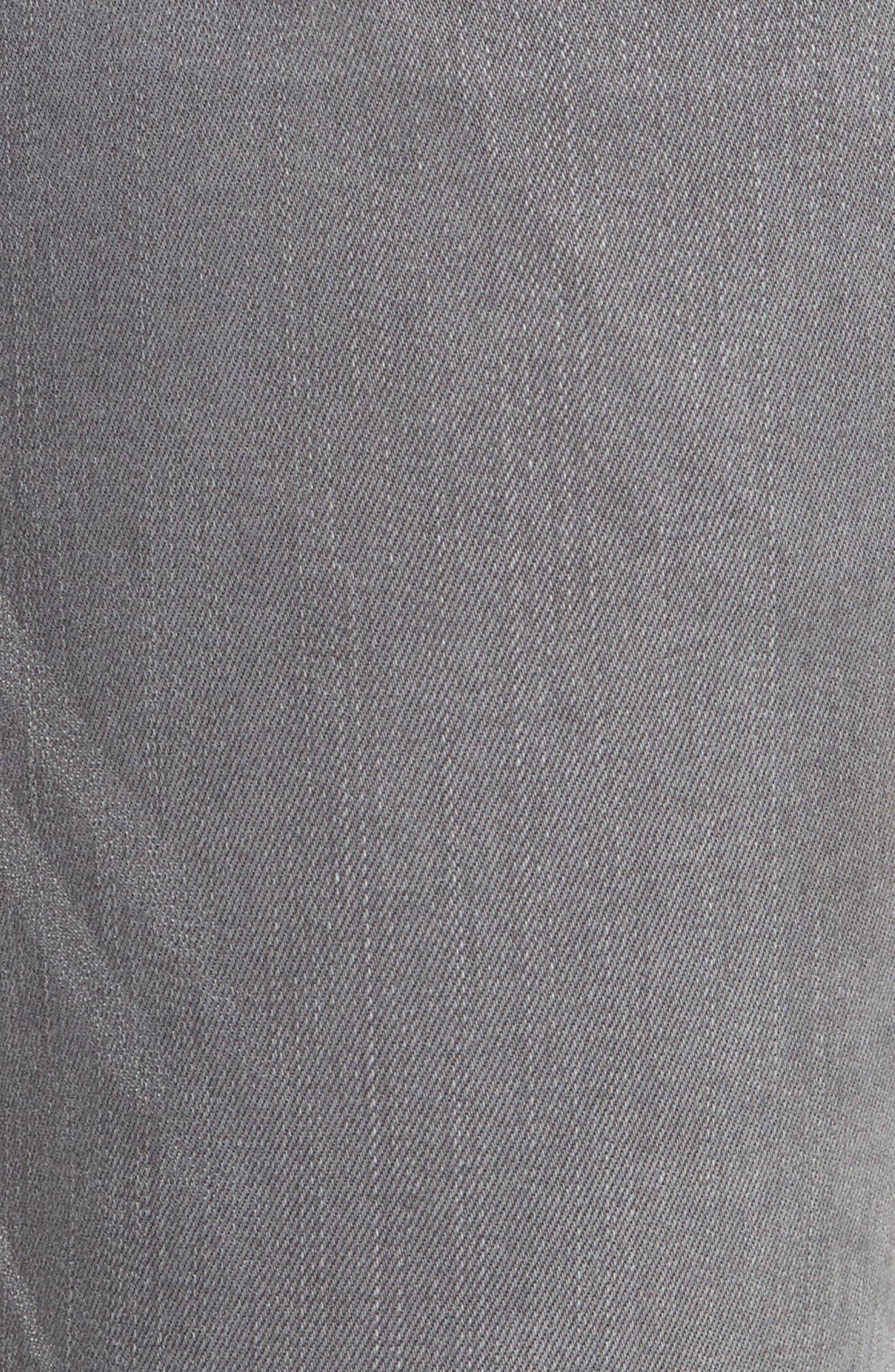 Le Skinny De Jeanne Double Hem Skinny Jeans,                             Alternate thumbnail 5, color,                             Maralago