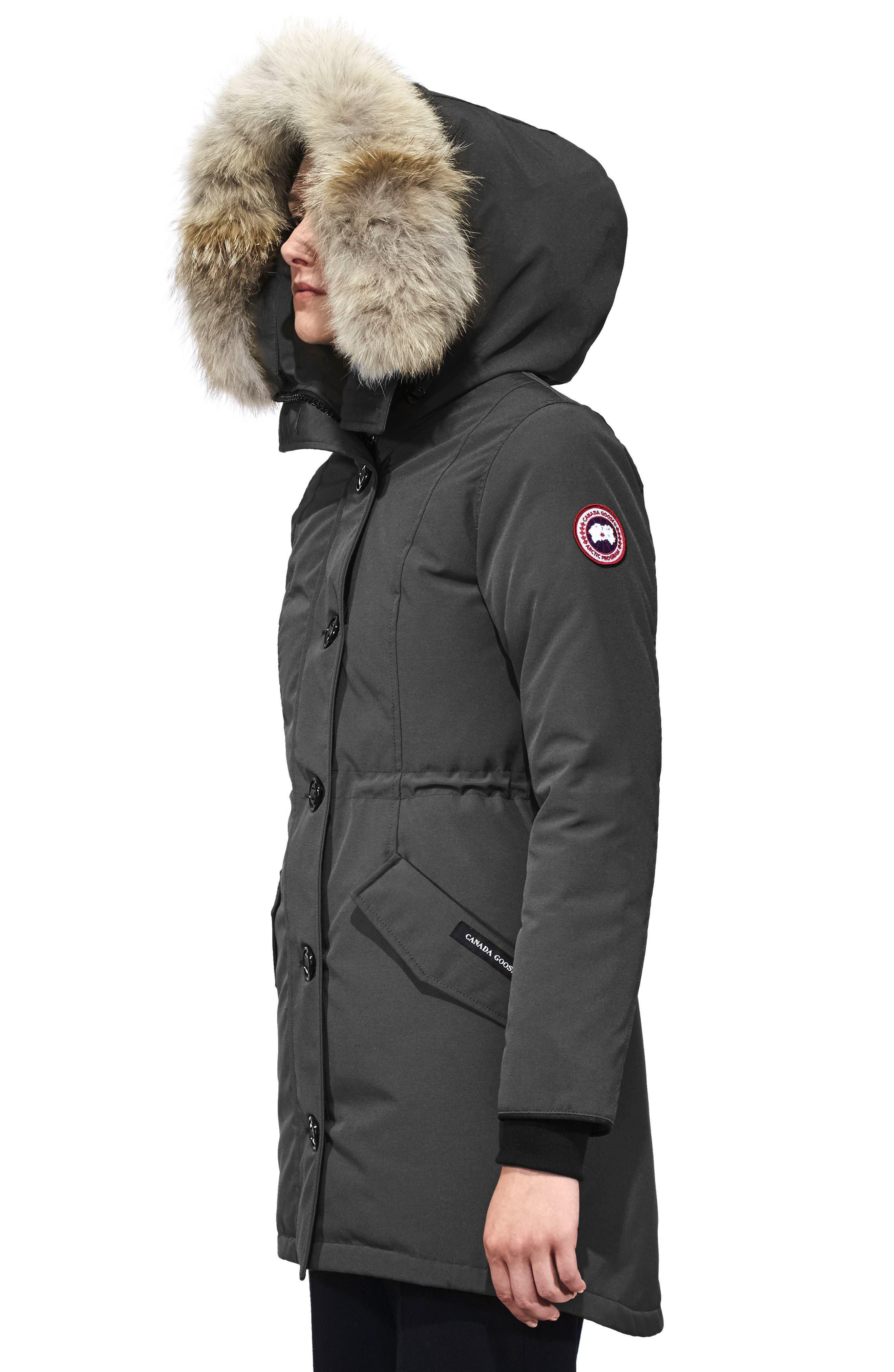 Alternate Image 3  - Canada Goose Rossclair Fusion Fit Genuine Coyote Fur Trim Down Parka