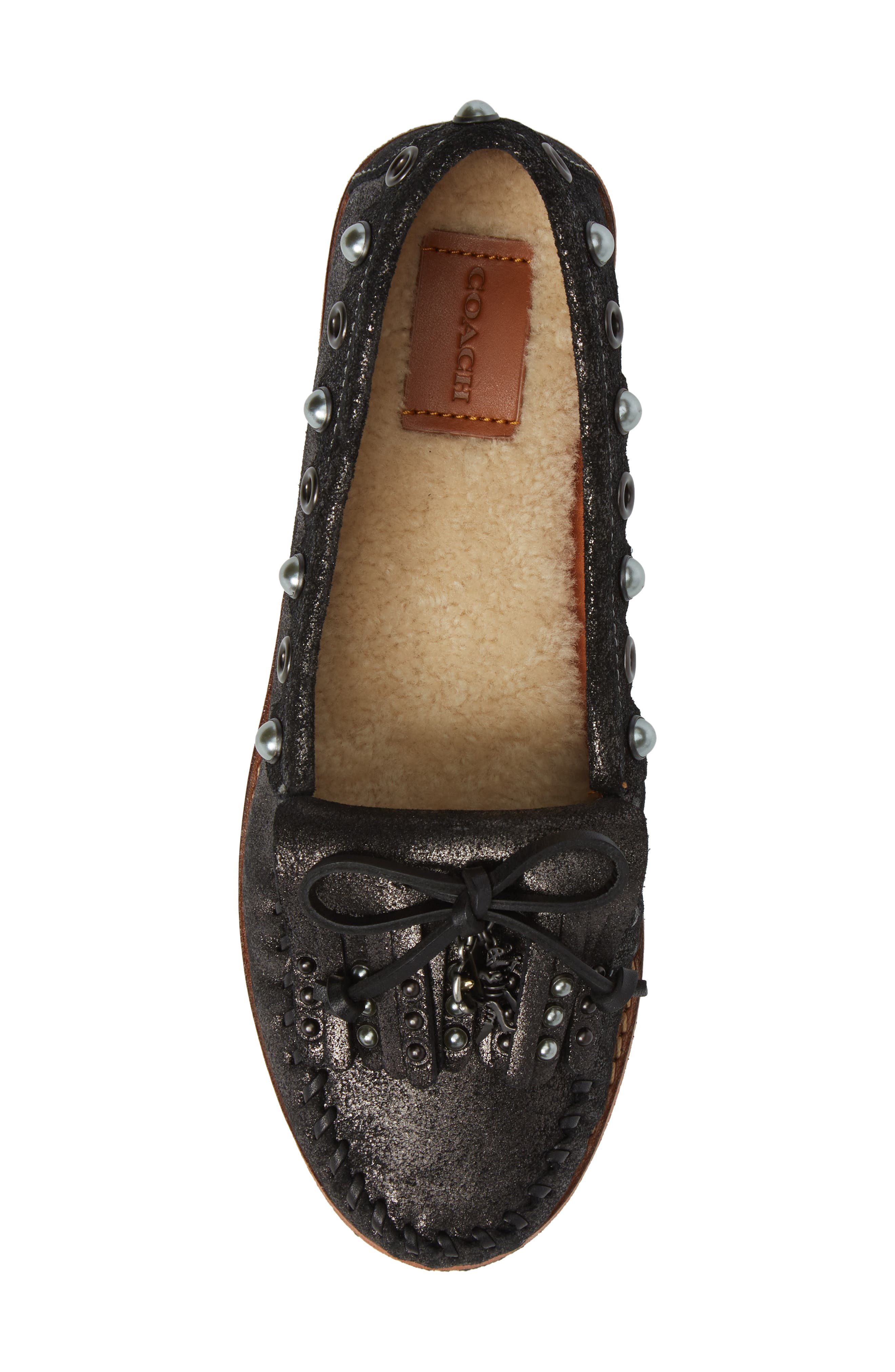Roccasin Flat,                             Alternate thumbnail 5, color,                             Anthracite Suede