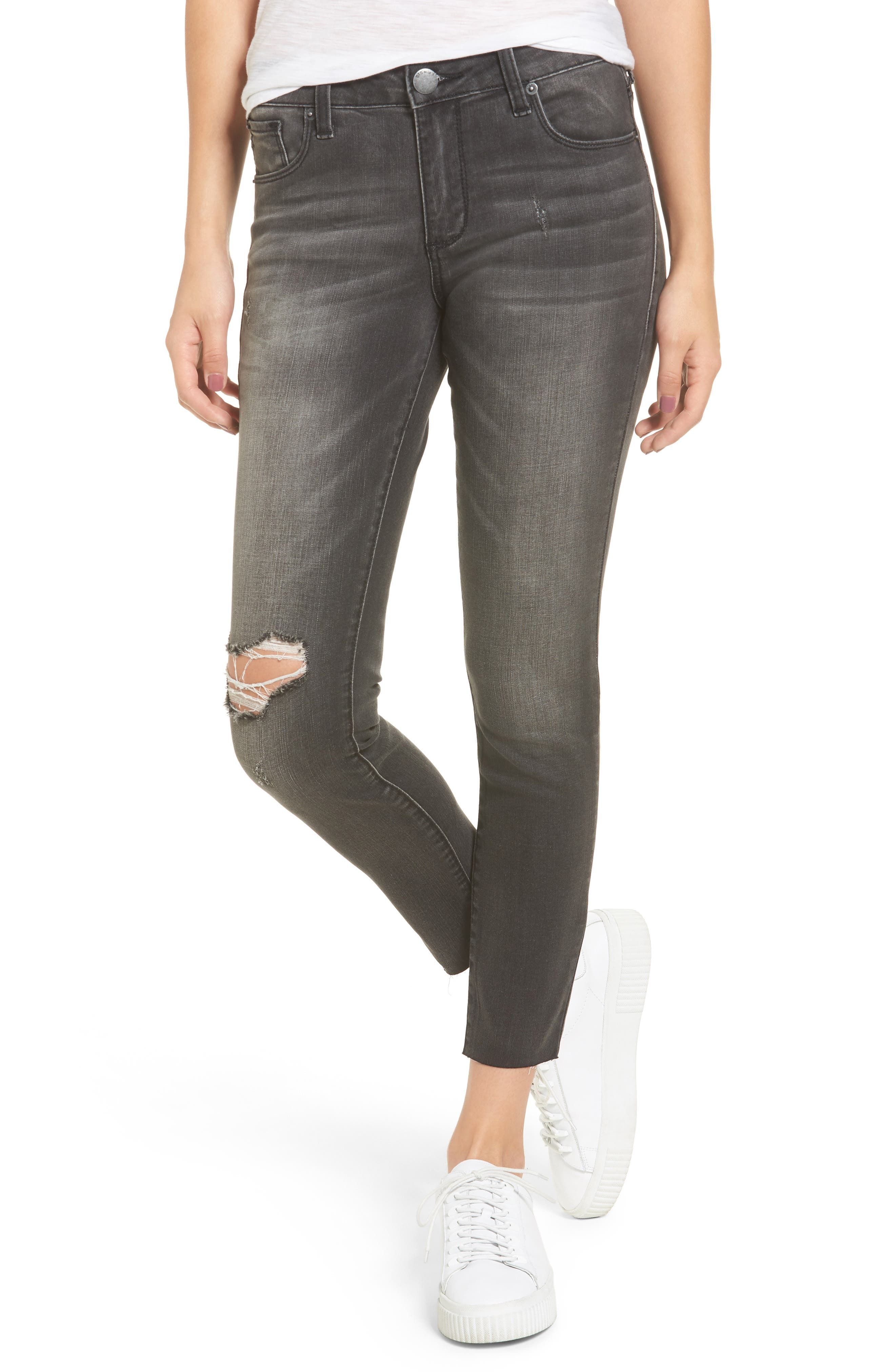 Alternate Image 1 Selected - STS Emma Ripped Crop Skinny Jeans (Jennings)