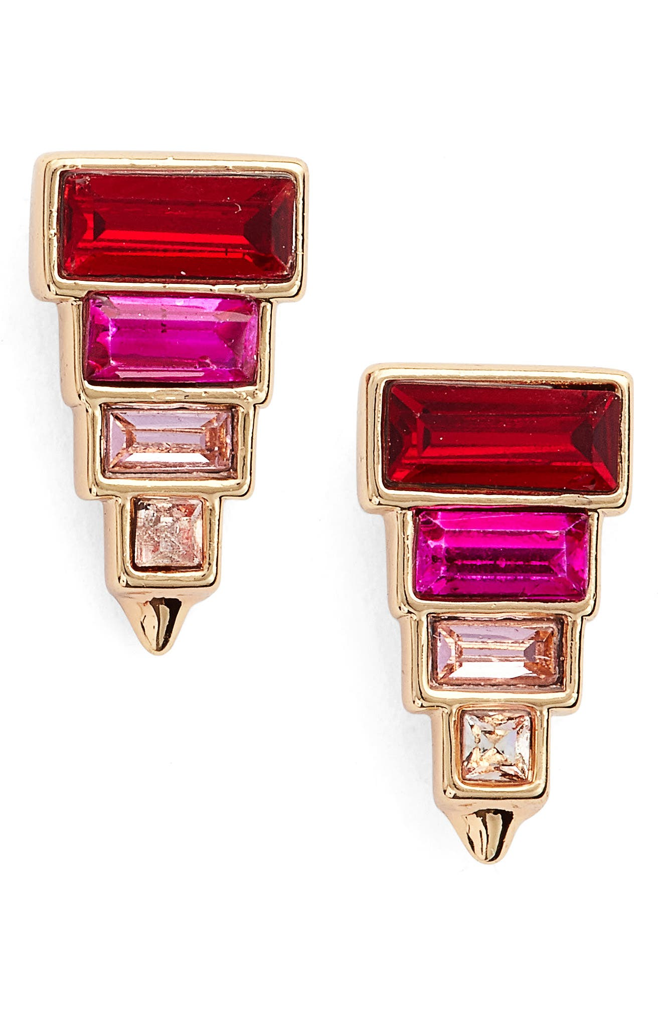 Rebecca Minkoff Stacked Crystal Studs