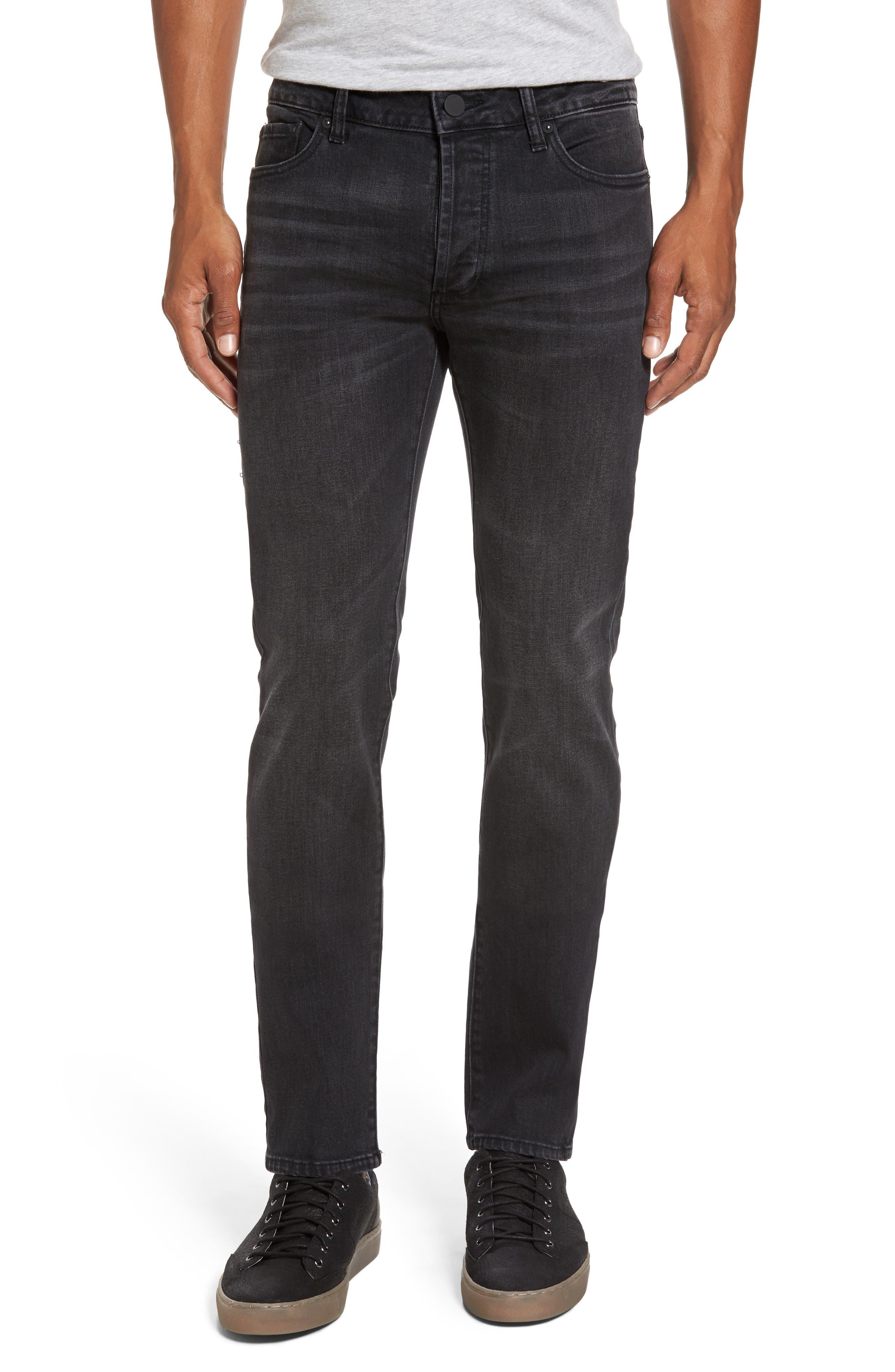 Alternate Image 1 Selected - DL1961 Nick Slim Fit Jeans (Jet)