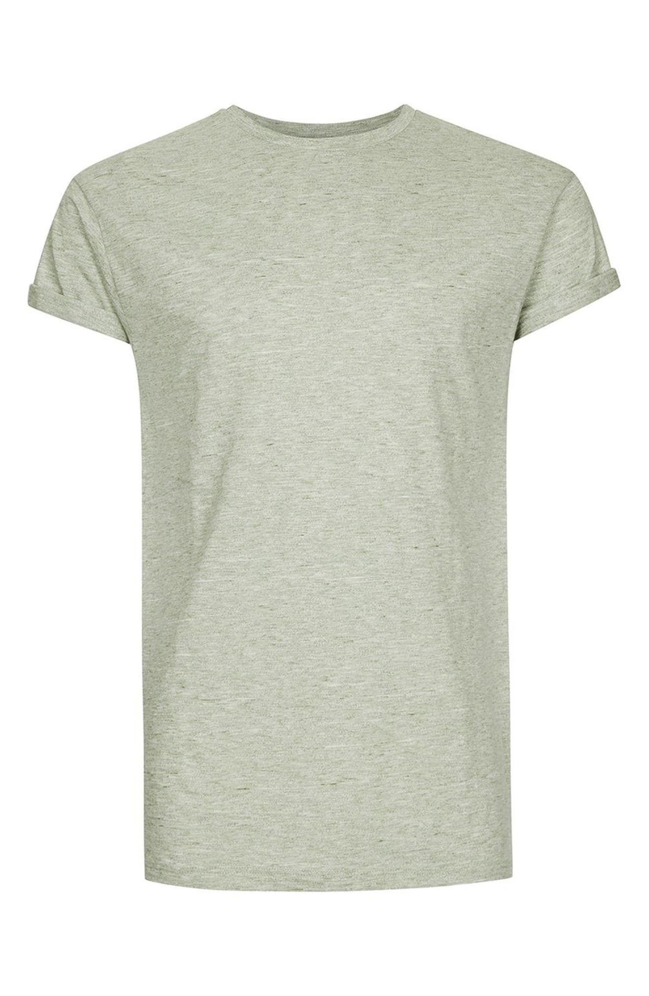 Muscle Fit Roll Sleeve T-Shirt,                             Alternate thumbnail 4, color,                             Light Olive