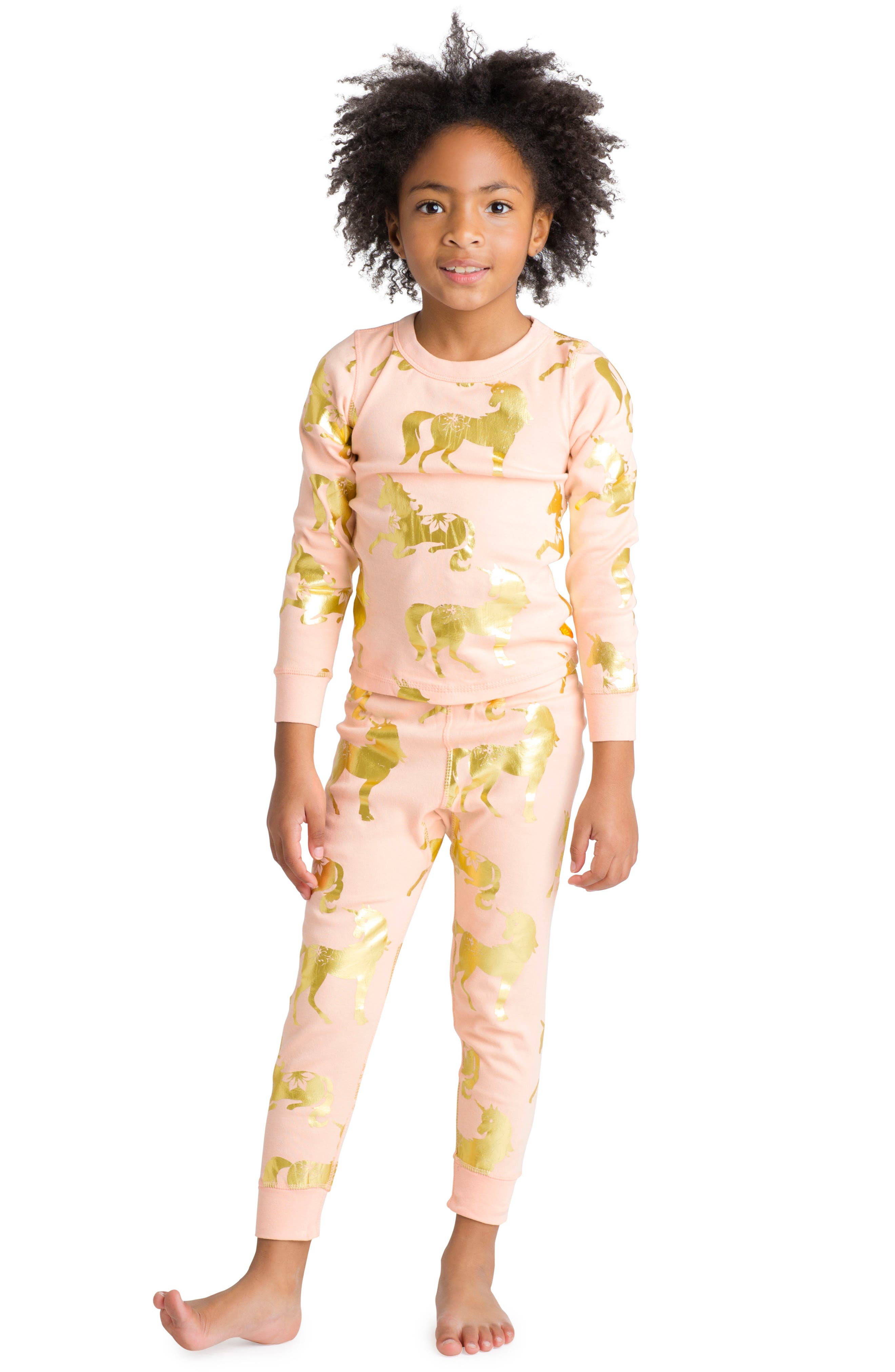 Masalababy Unicorn Organic Cotton Fitted Two-Piece Pajamas (Toddler Girls, Little Girls & Big Girls)