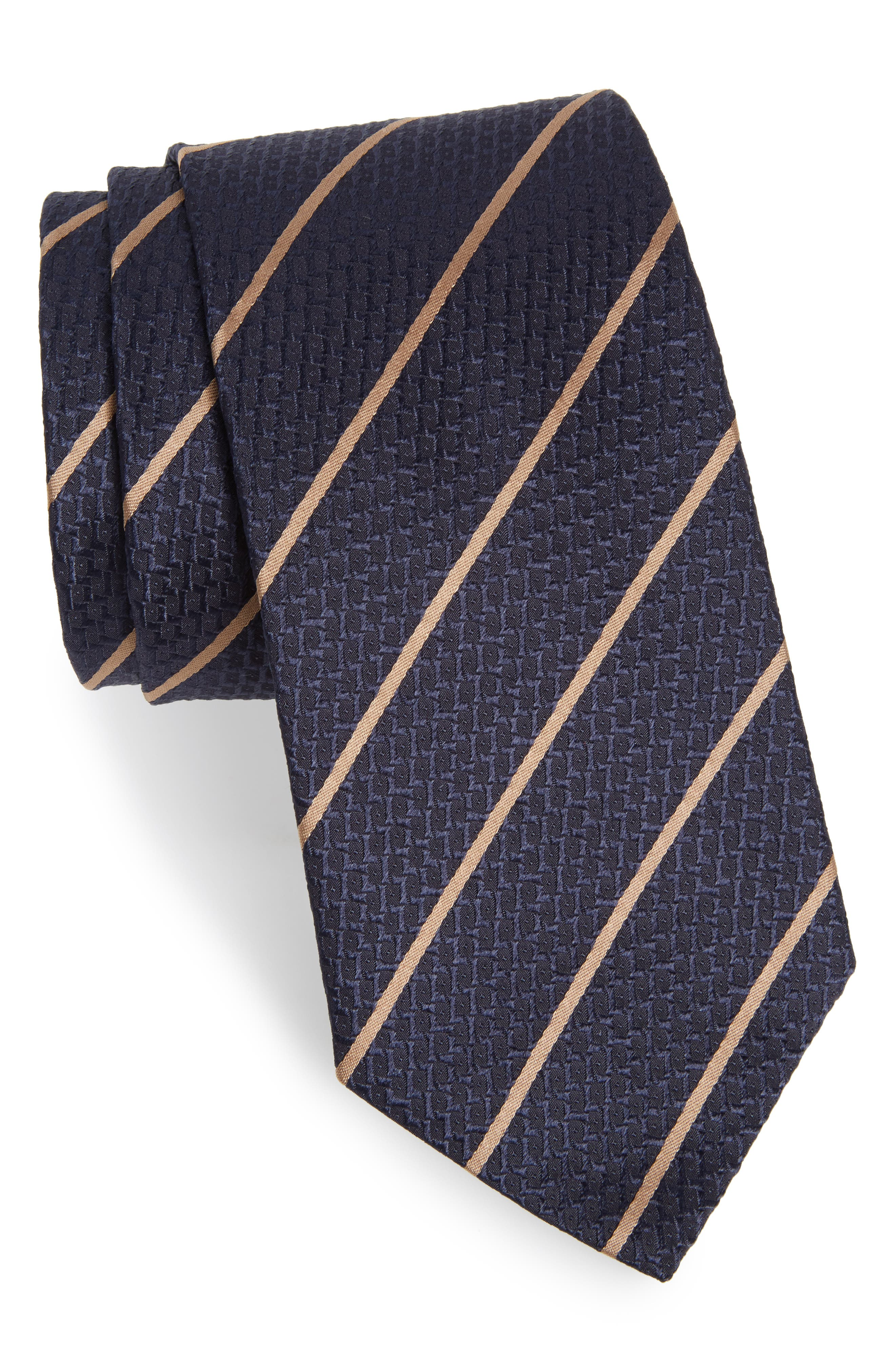 Main Image - BOSS Stripe Silk Tie