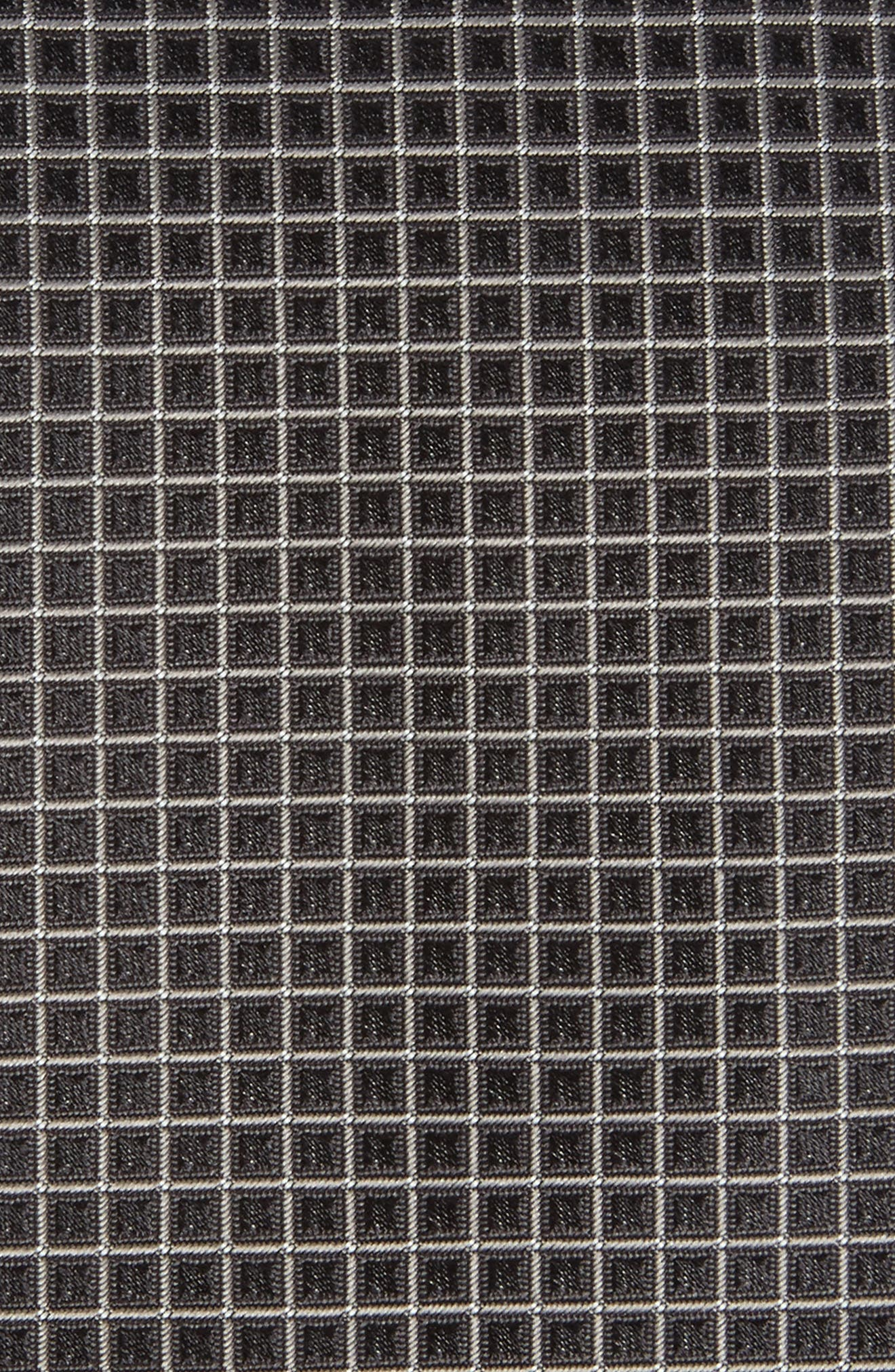 Grid Silk Tie,                             Alternate thumbnail 2, color,                             Open Grey