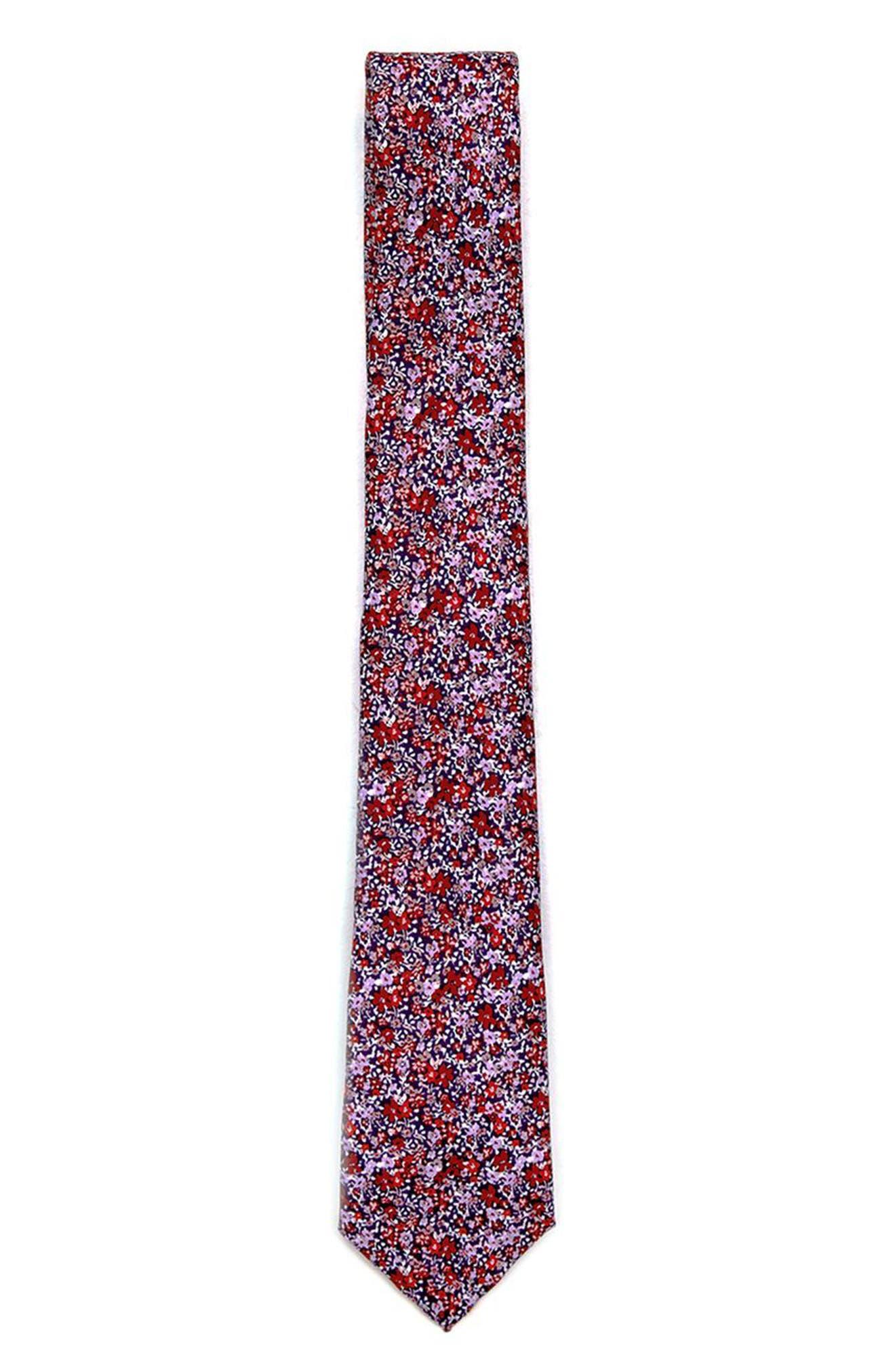 Topman Floral Print Tie