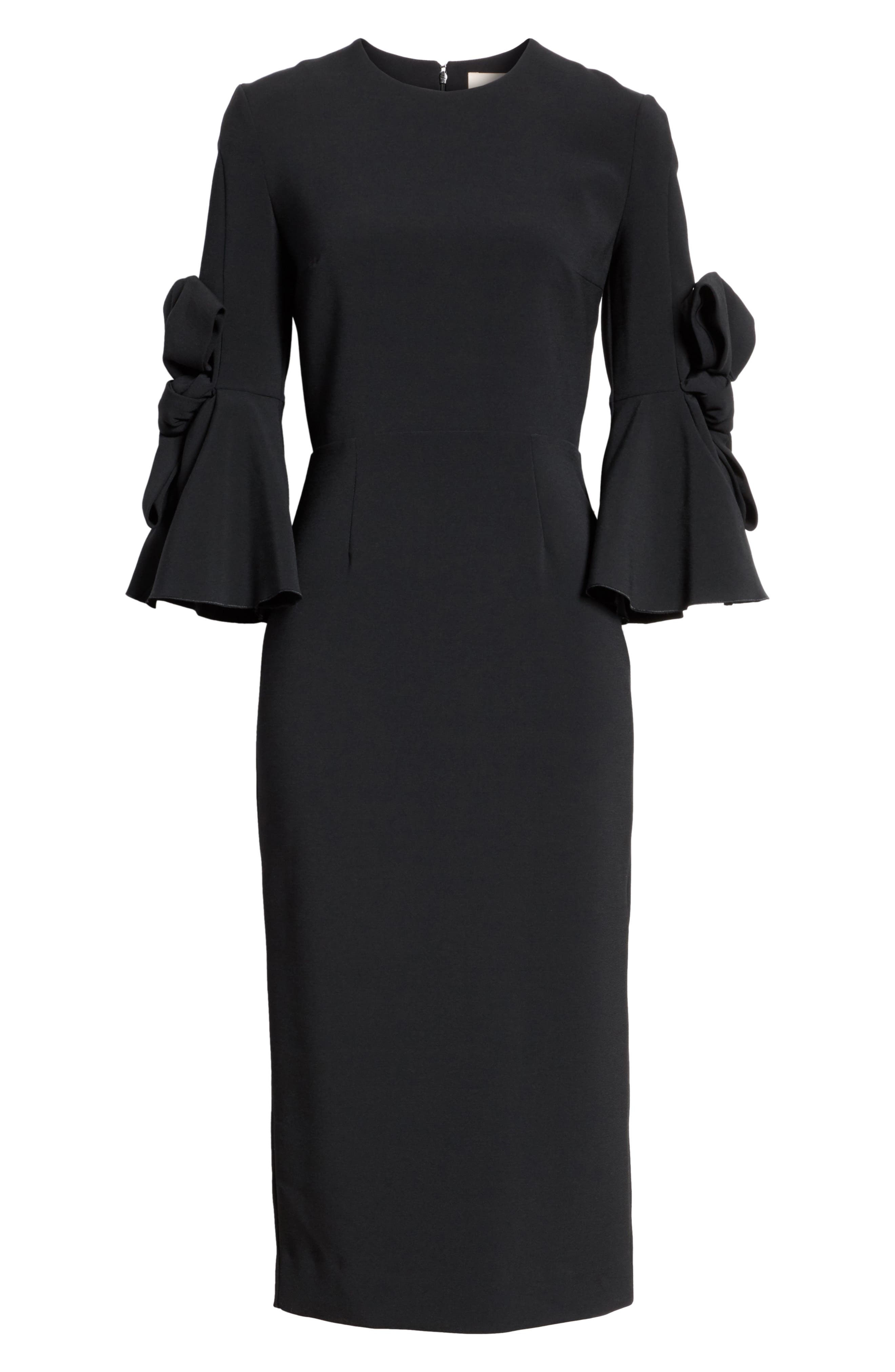Alternate Image 6  - Roksanda Lavete Stretch Crepe Midi Dress