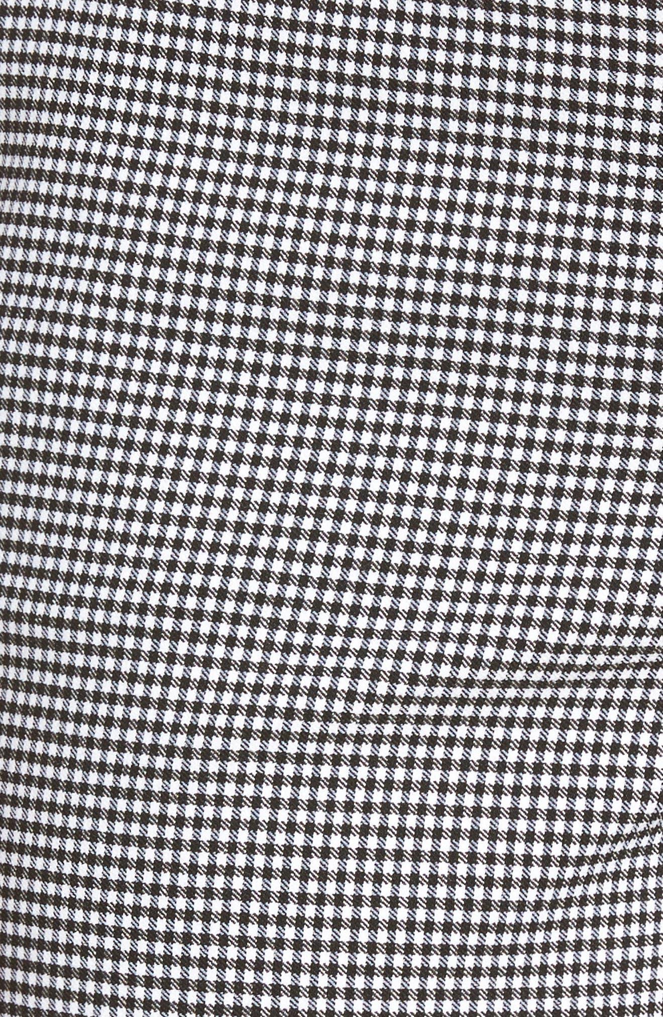 Stretch Bermuda Shorts,                             Alternate thumbnail 5, color,                             Black- White Gingham