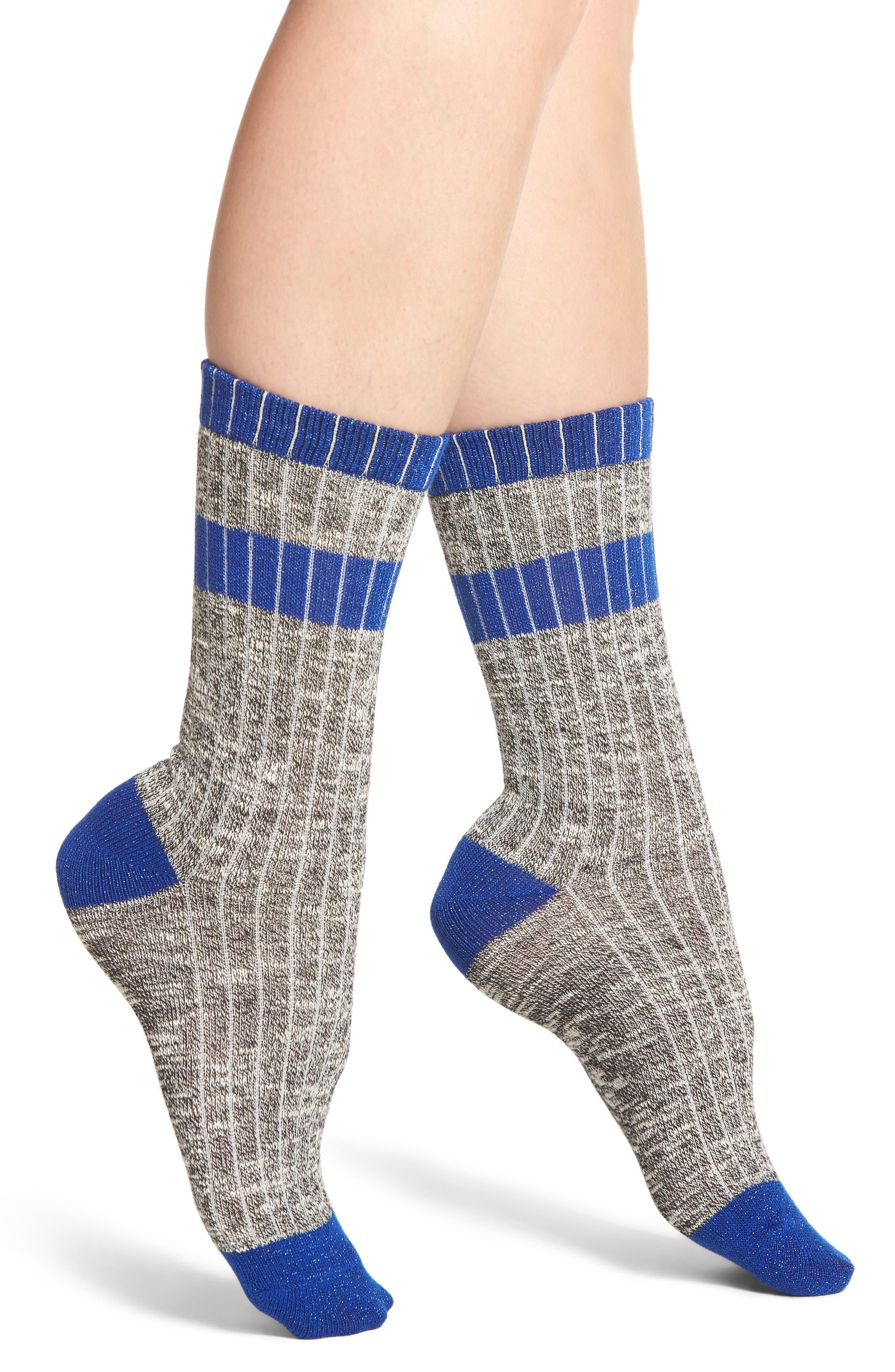 Alternate Image 1 Selected - Treasure & Bond Varsity Stripe Crew Socks