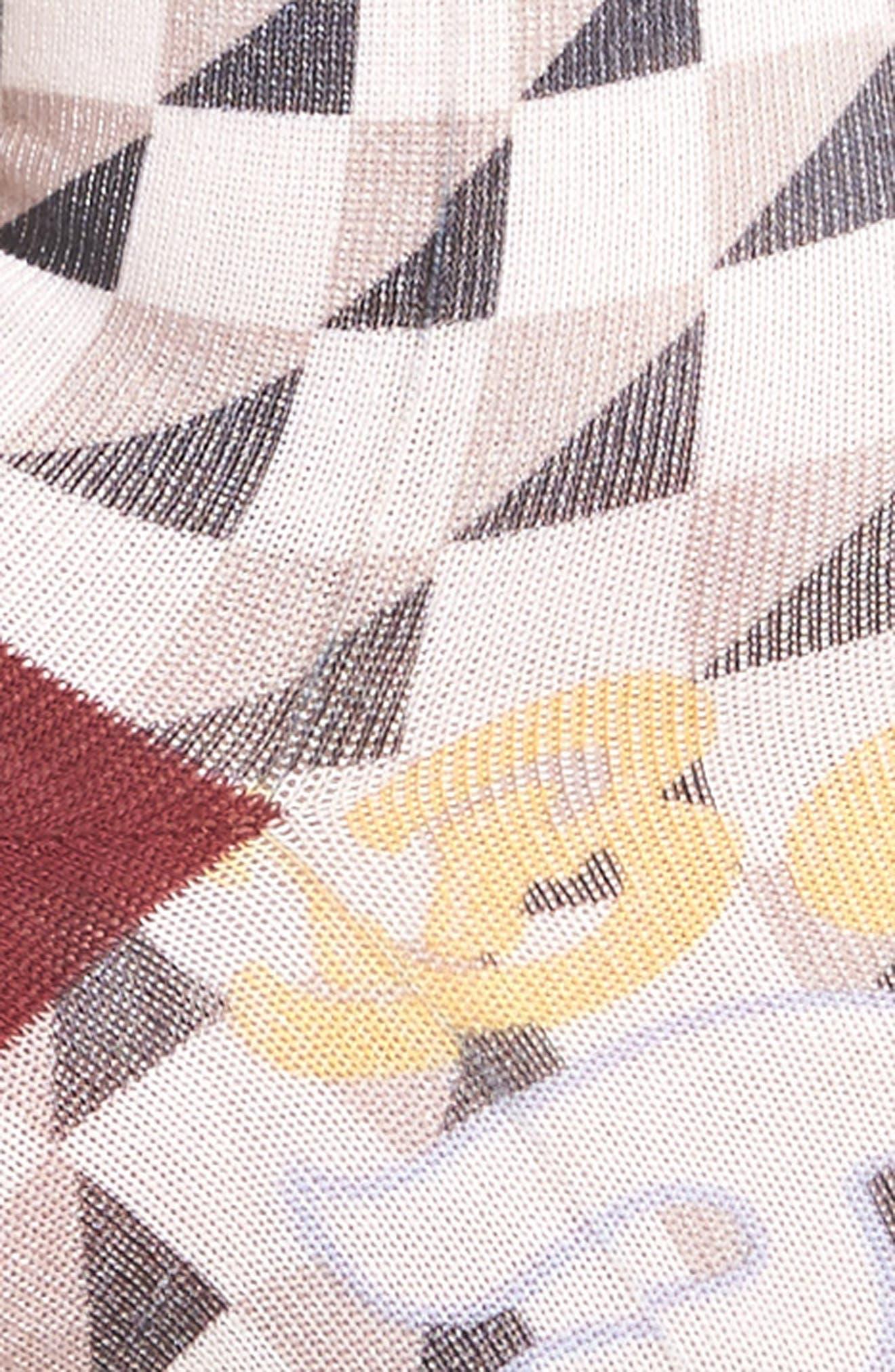 Lowrider Supa Wavy Socks,                             Alternate thumbnail 3, color,                             White Multi