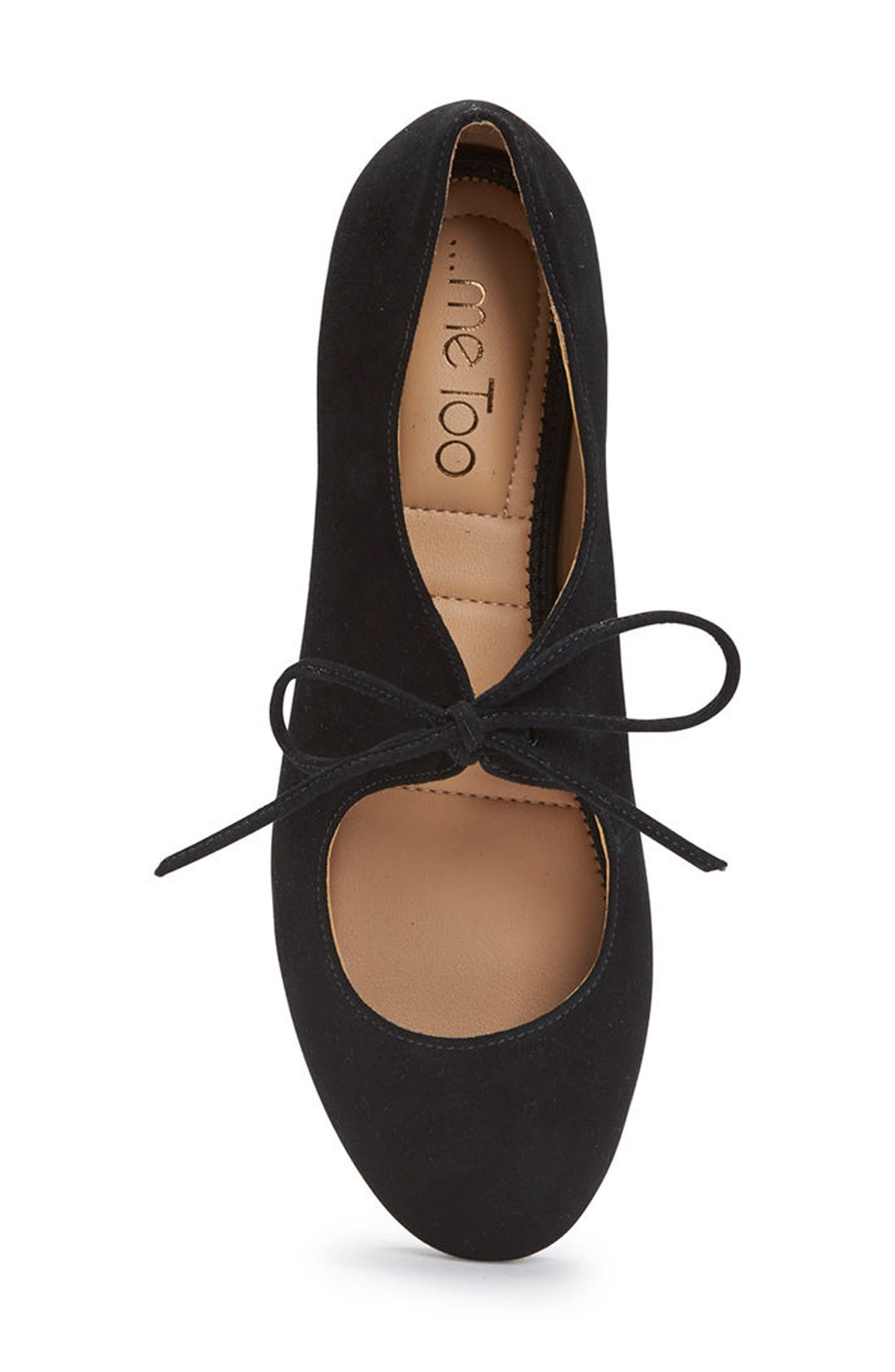 Cacey Mary Jane Flat,                             Alternate thumbnail 4, color,                             Black Suede