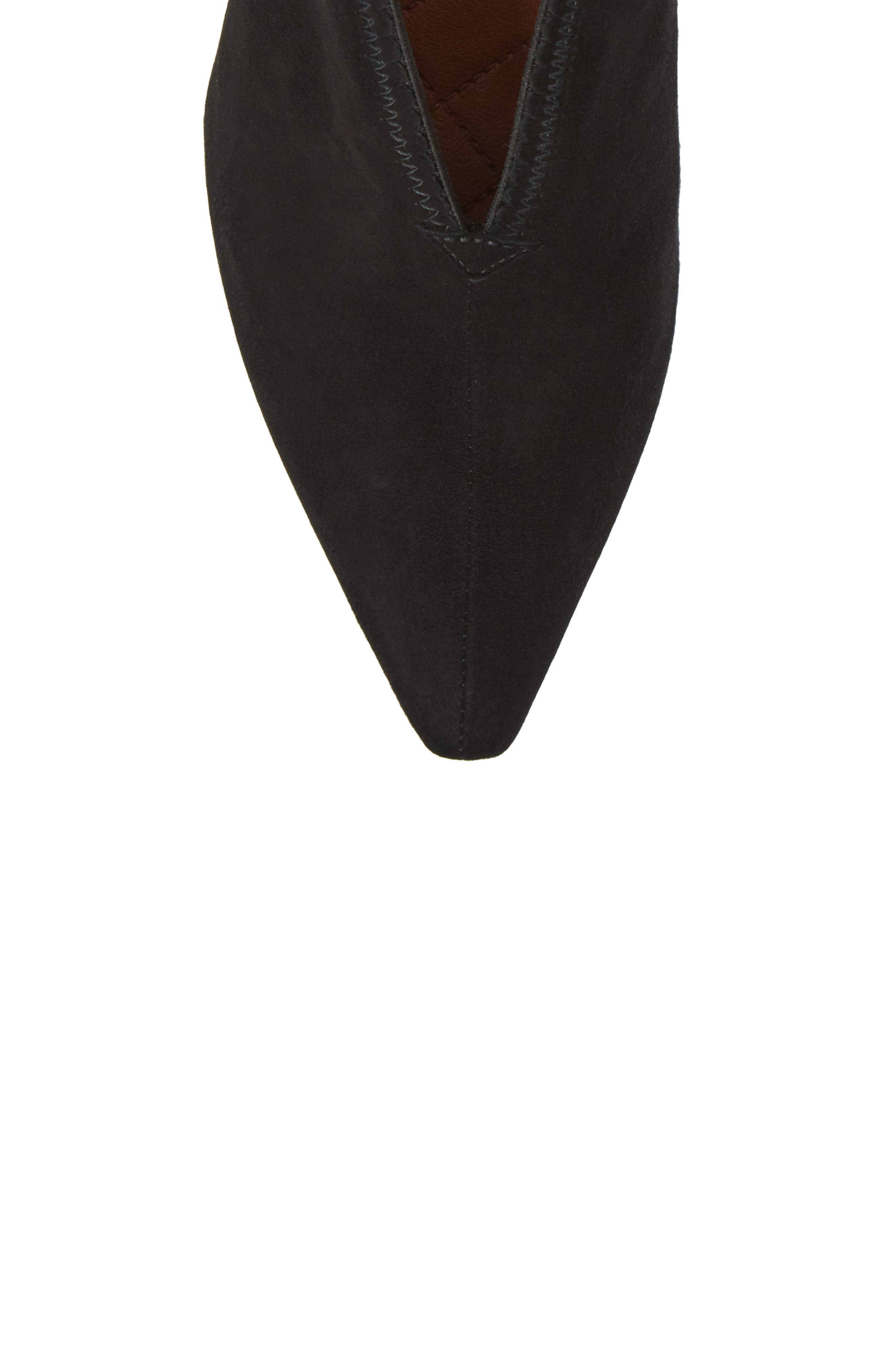 Connie Block Heel Pump,                             Alternate thumbnail 5, color,                             Ante Black Leather