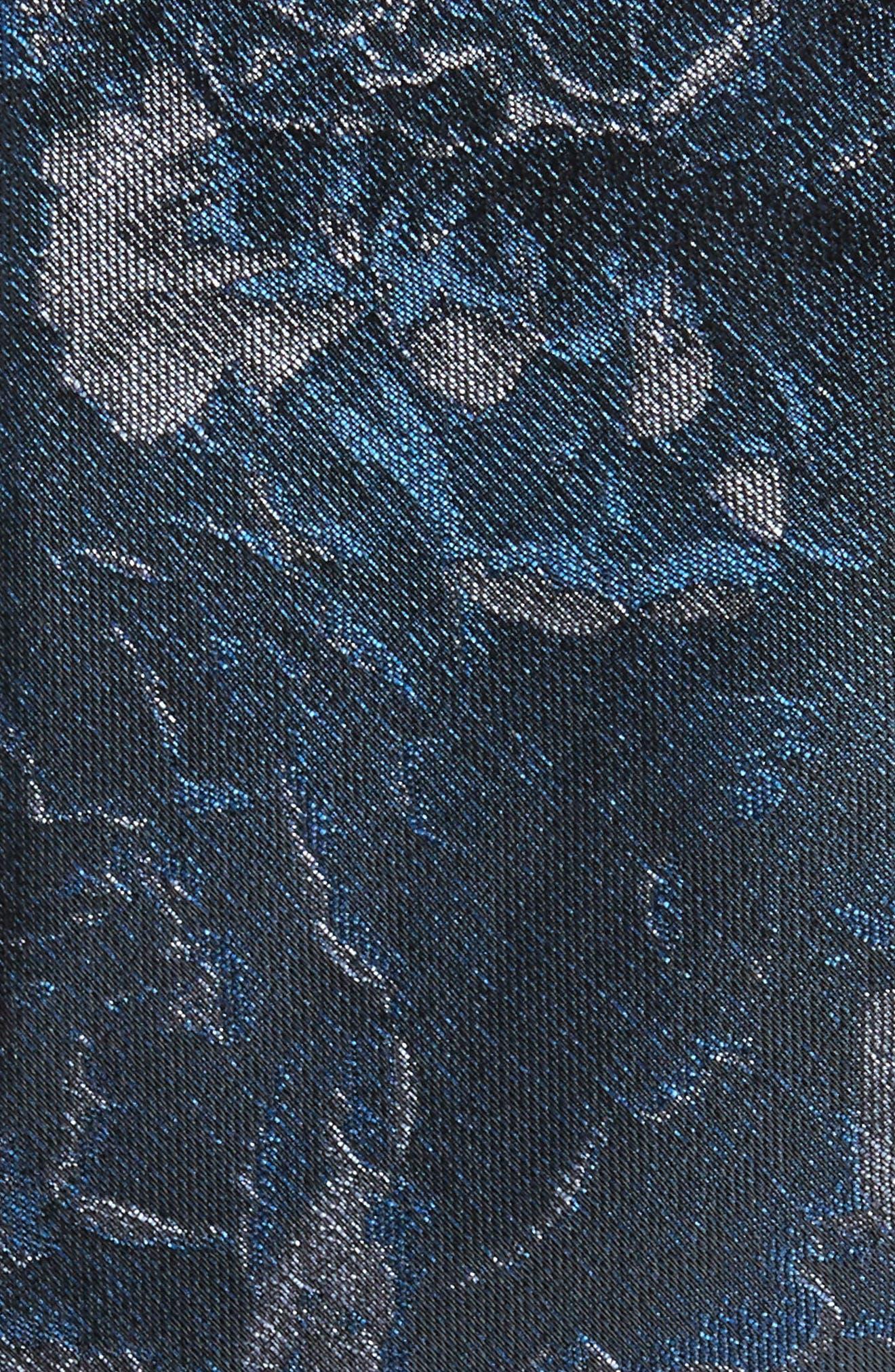 Floral Tie,                             Alternate thumbnail 2, color,                             Navy Blue