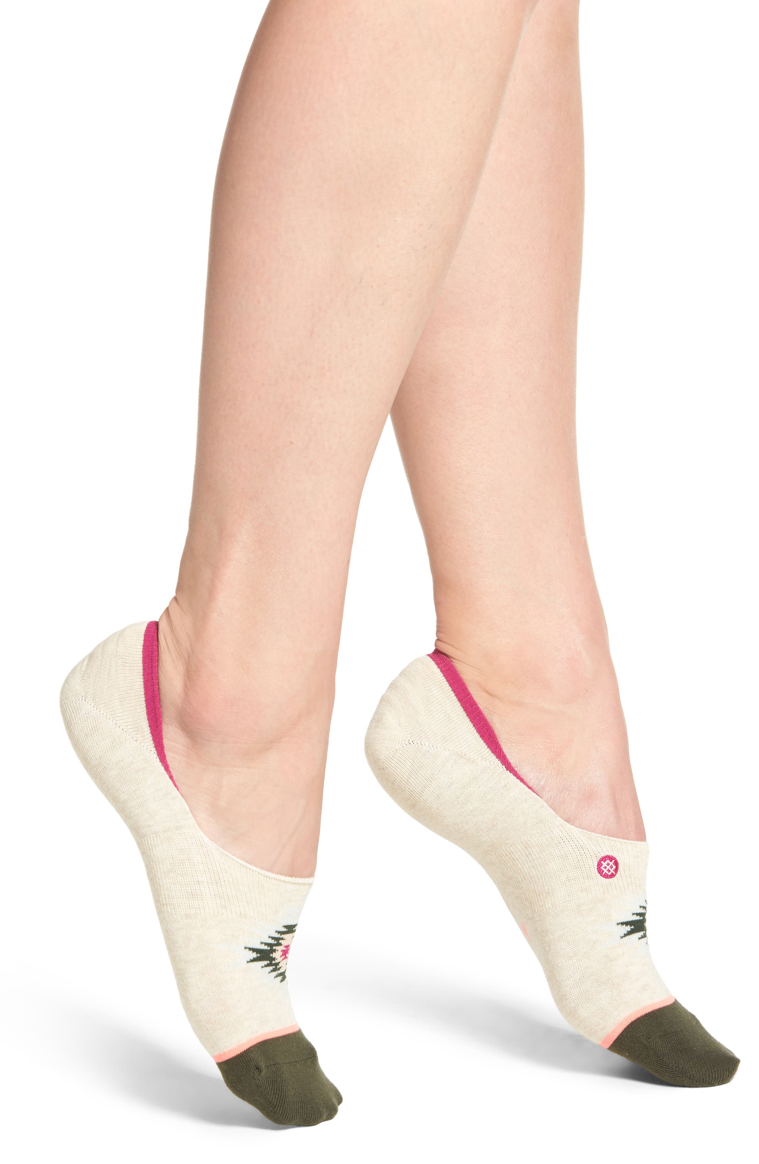 Krista Invisible Liner Socks,                         Main,                         color, Oatmeal Heather