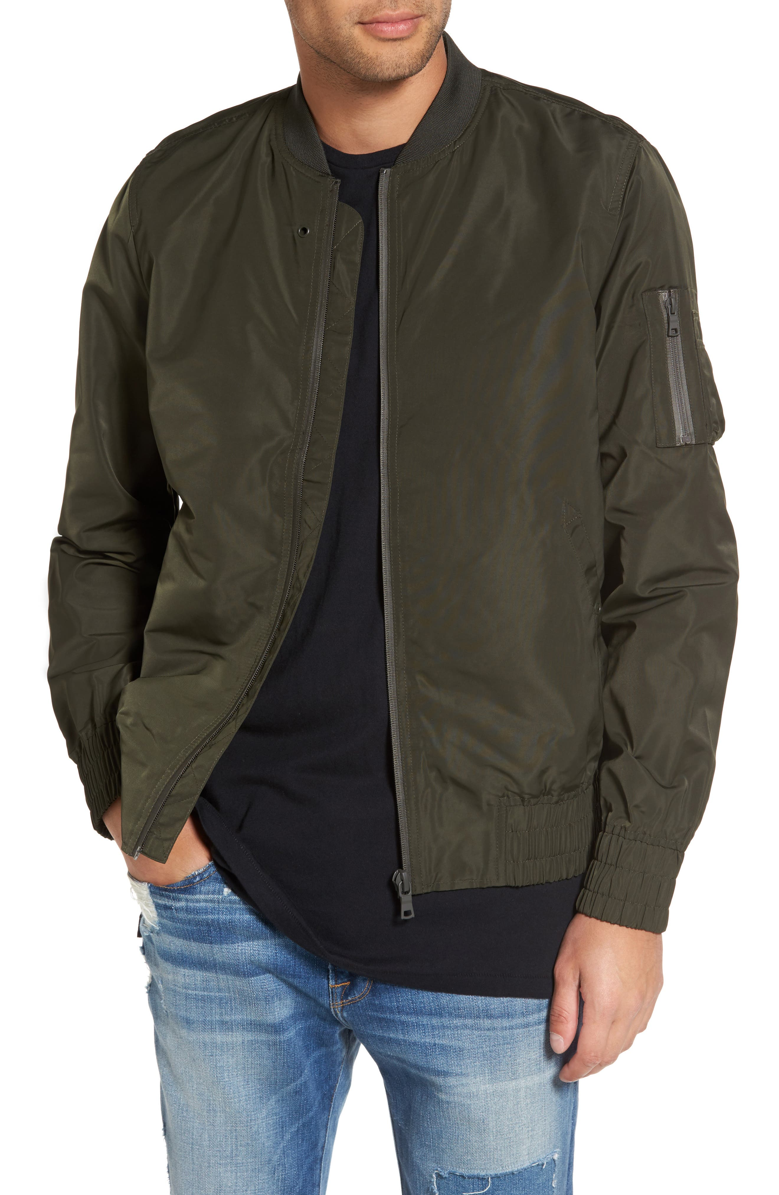 Alternate Image 1 Selected - Topman Elton Bomber Jacket