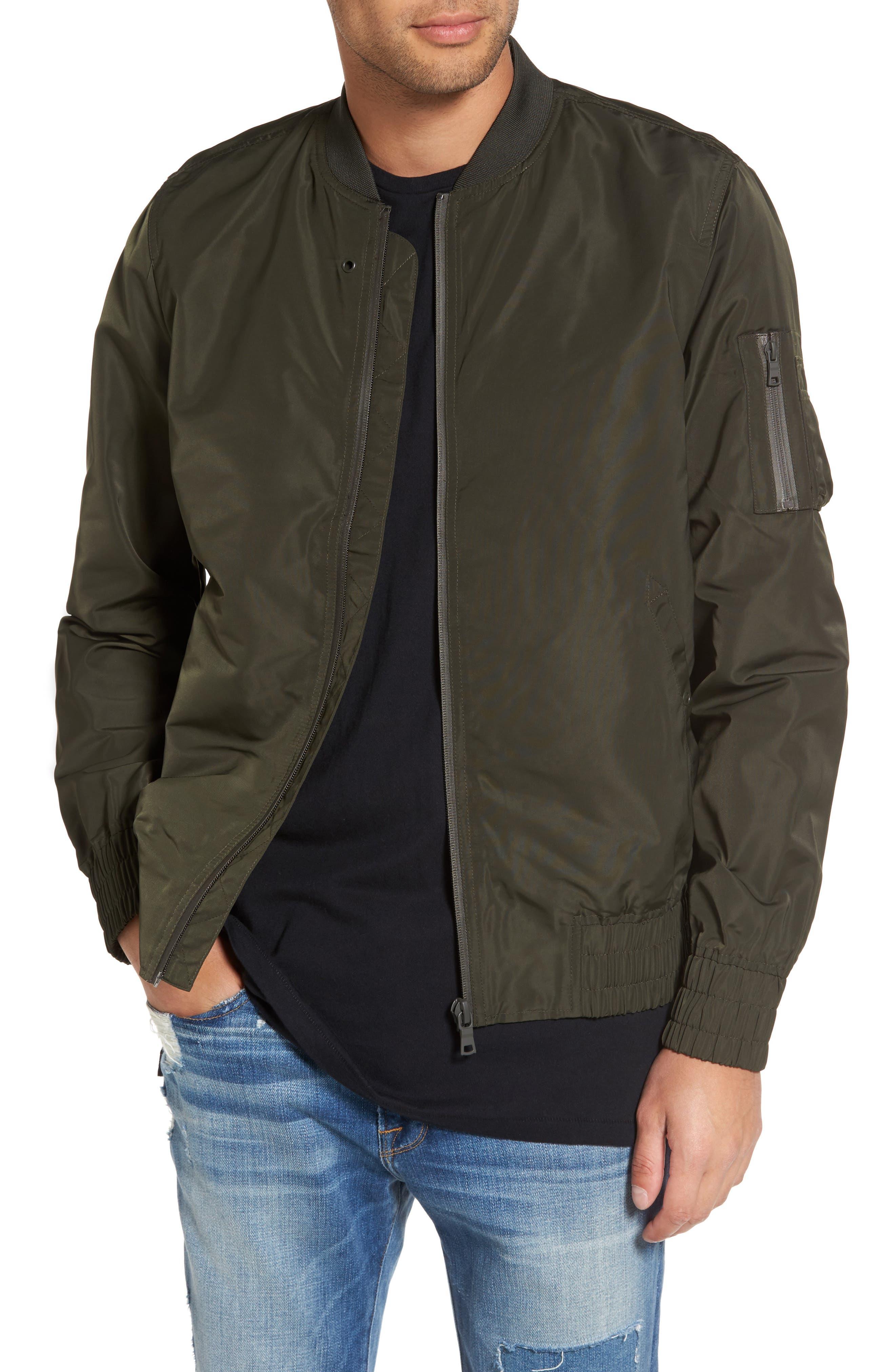 Elton Bomber Jacket,                         Main,                         color, Olive