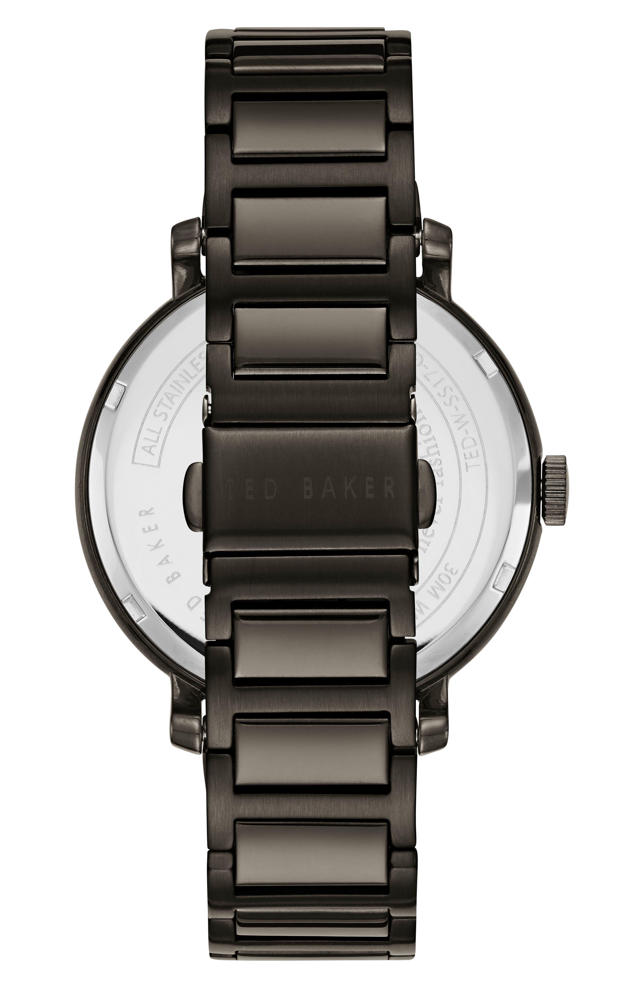 Trent Bracelet Watch, 44mm,                             Alternate thumbnail 2, color,                             Brown/ Gunmetal