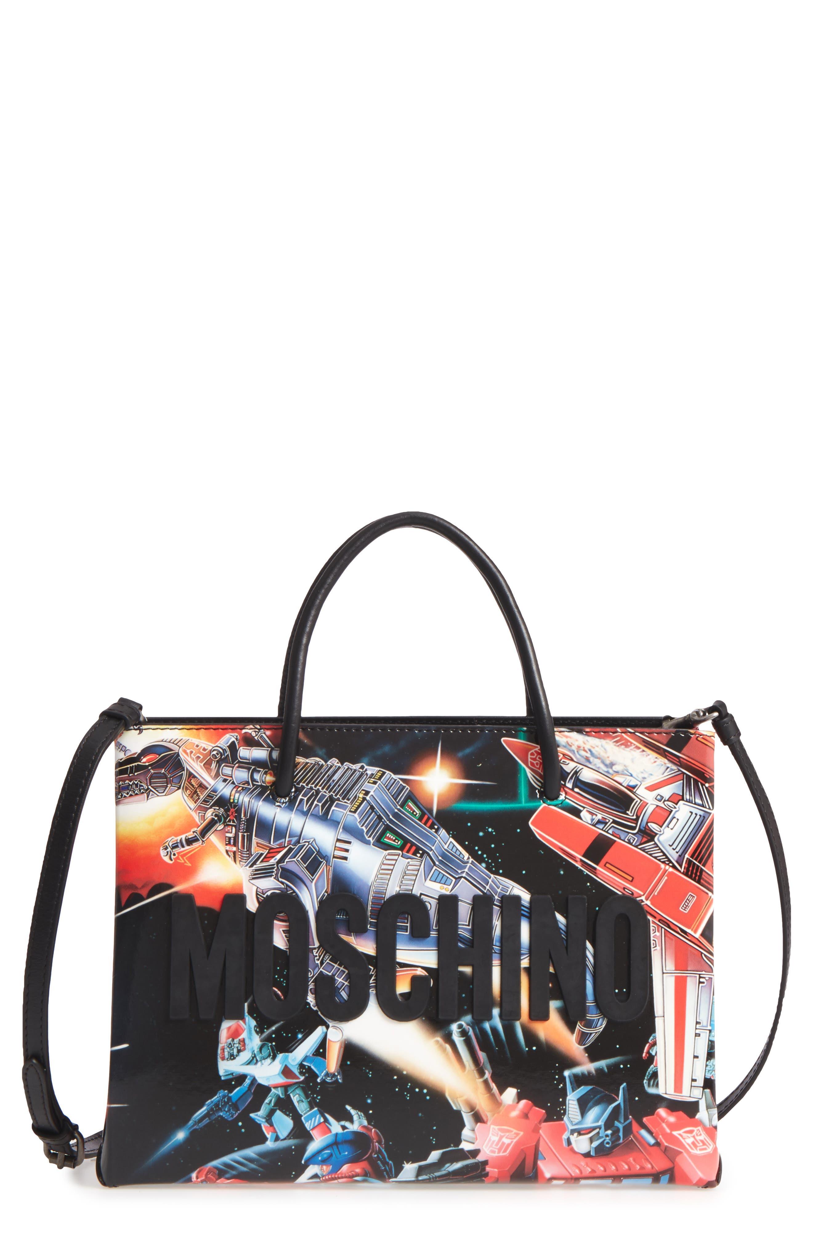 MOSCHINO Medium Logo Transformer Print Tote